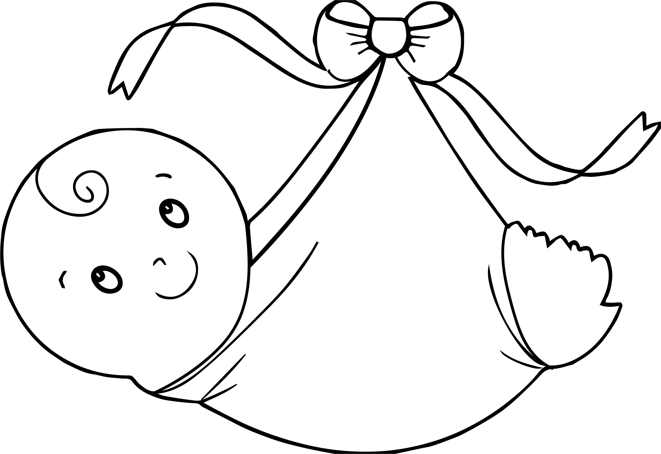 Swaddling Clothes Baby Boy Coloring Page