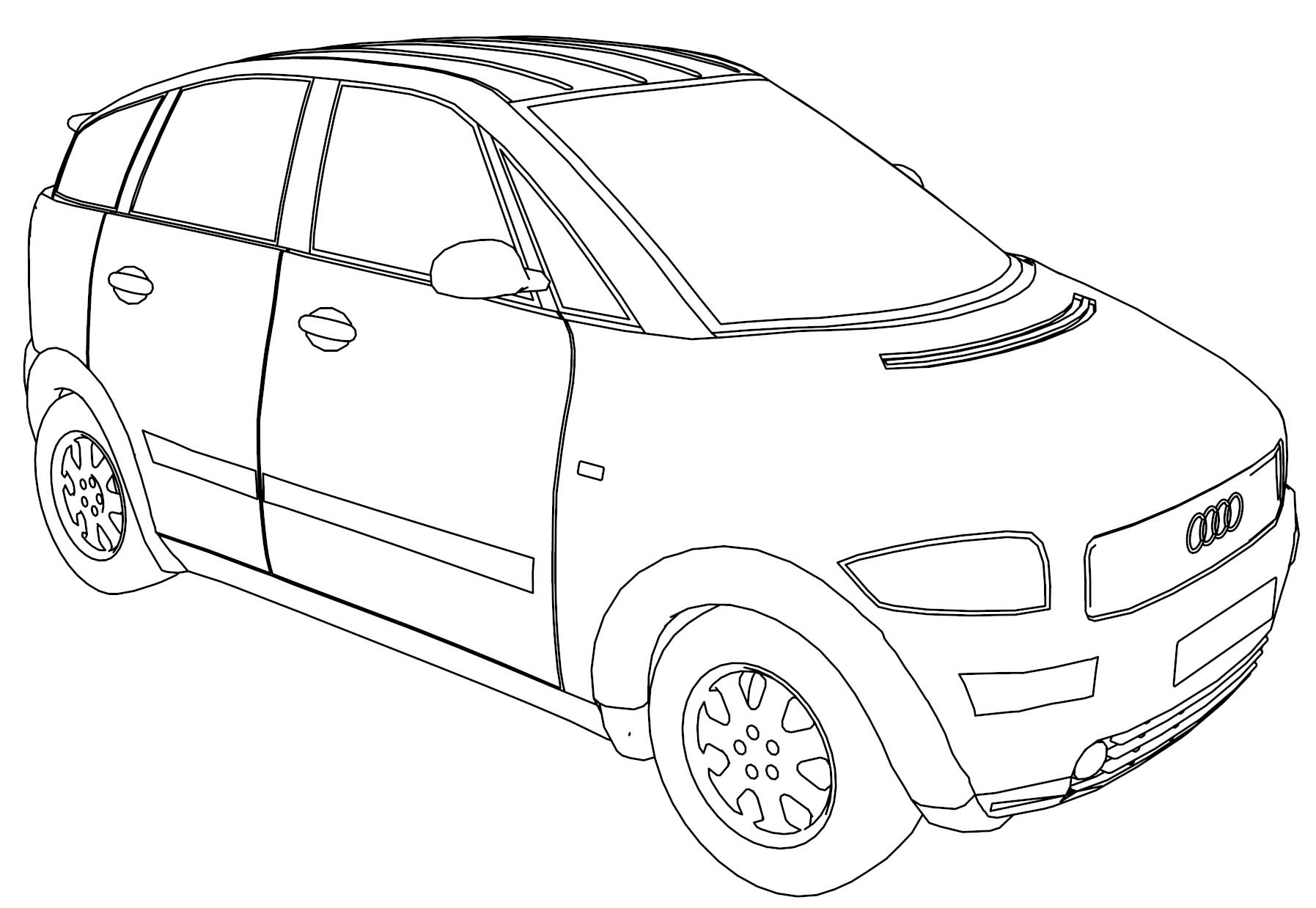Audi A2 Car Coloring Page