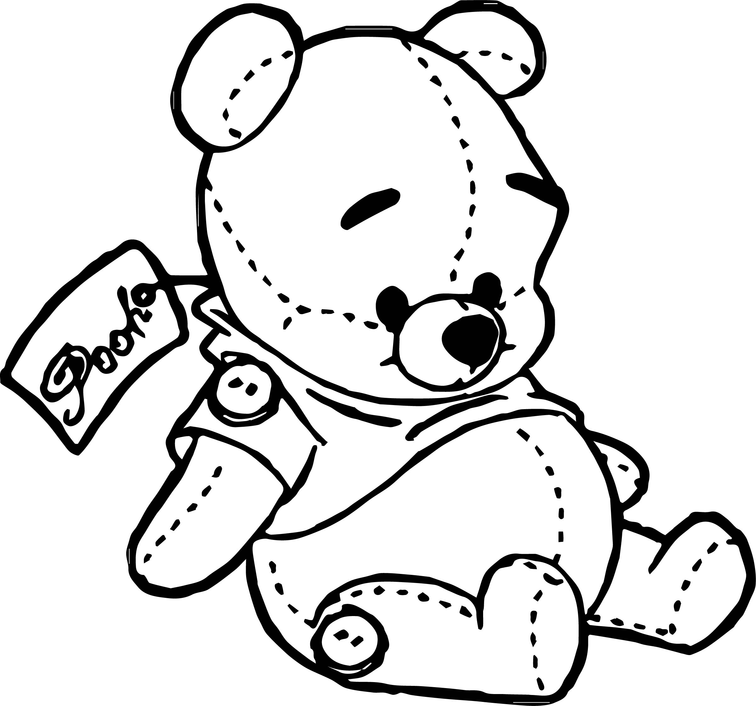 Baby Pooh Toy T Coloring Page