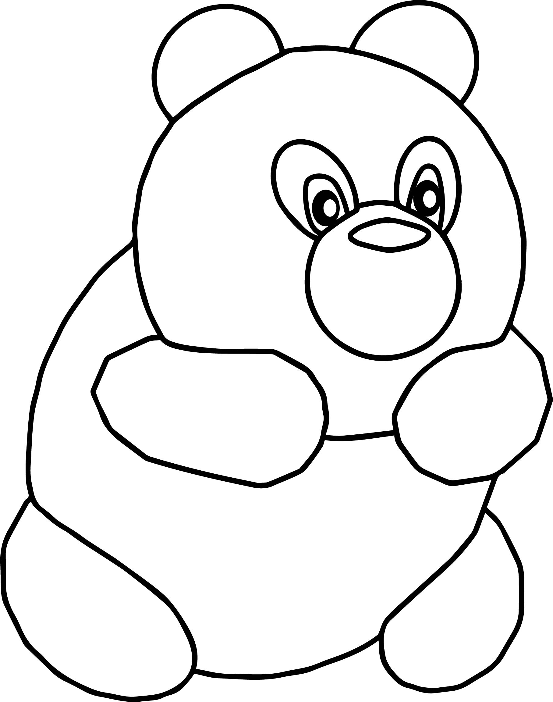 Cute Grizzly Bear Coloring Pages