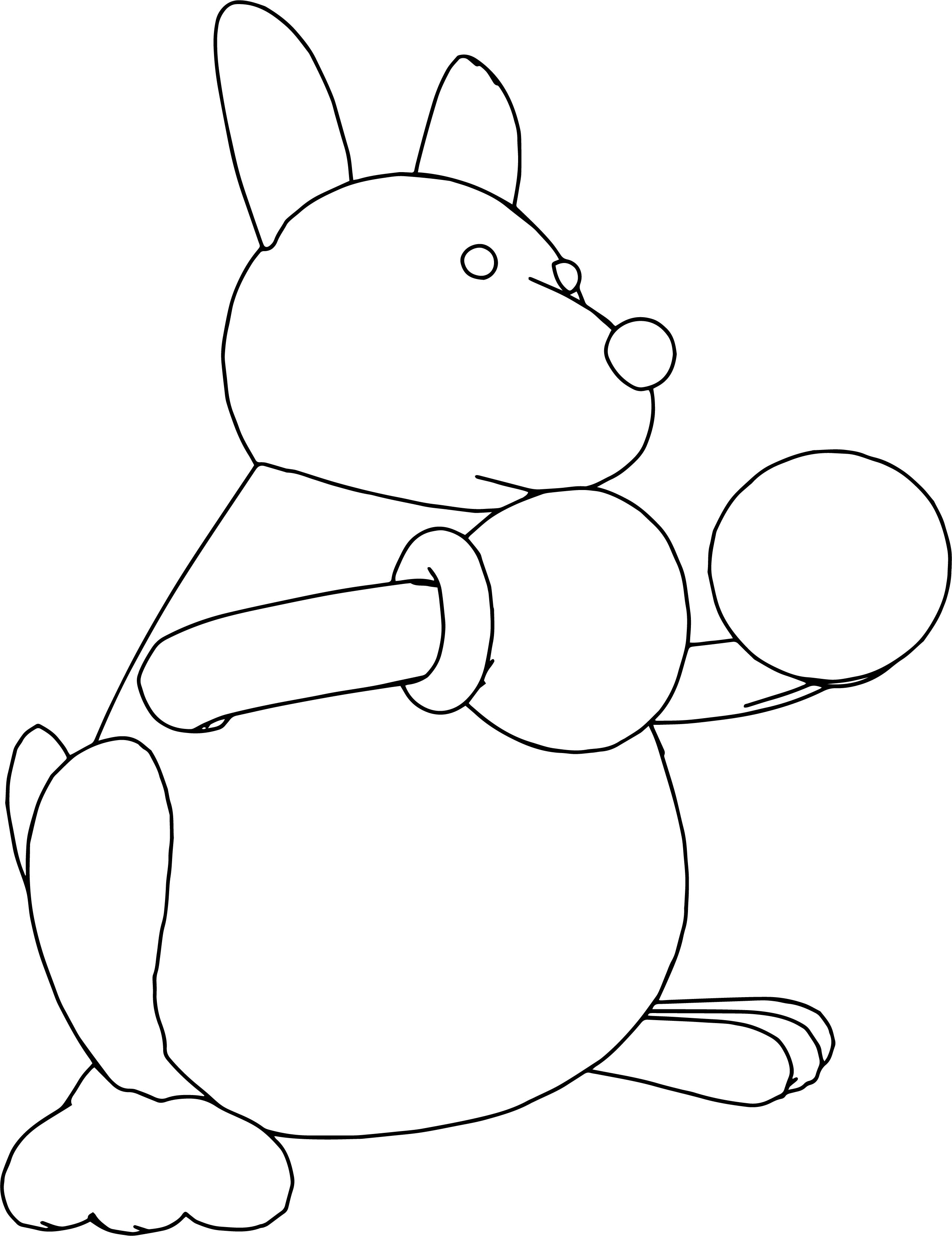 Boxing Kangaroo Coloring Page Sheet Line Drawing