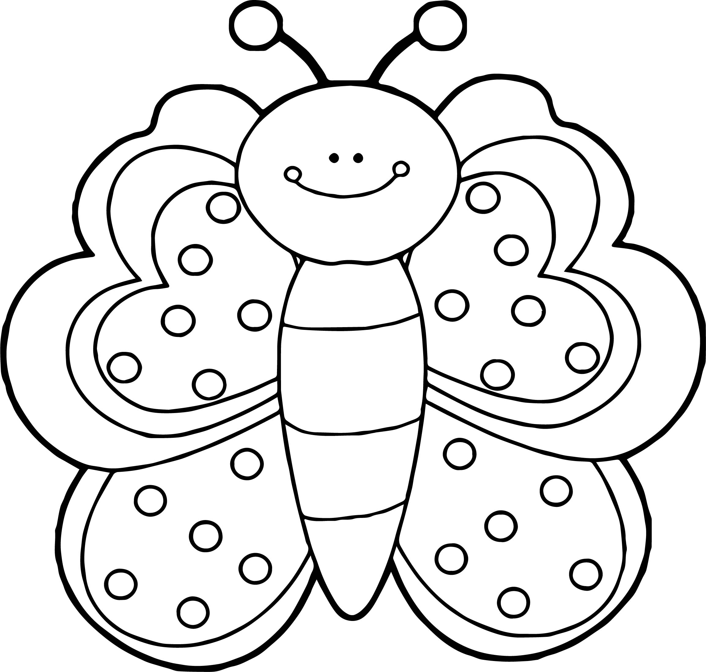 Front View Butterfly Coloring Page