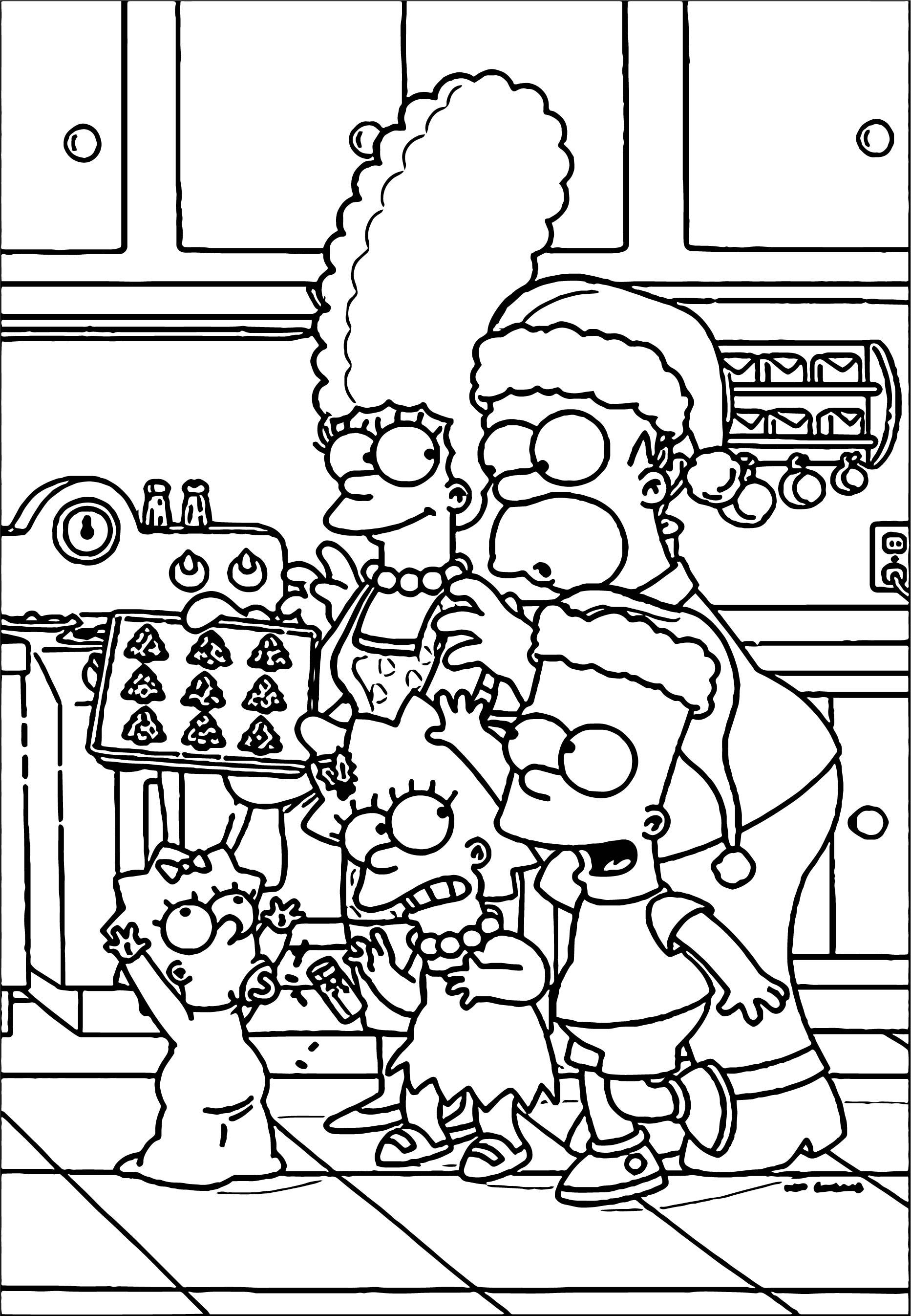 Simpsons Kitchen Coloring Page Wecoloringpage