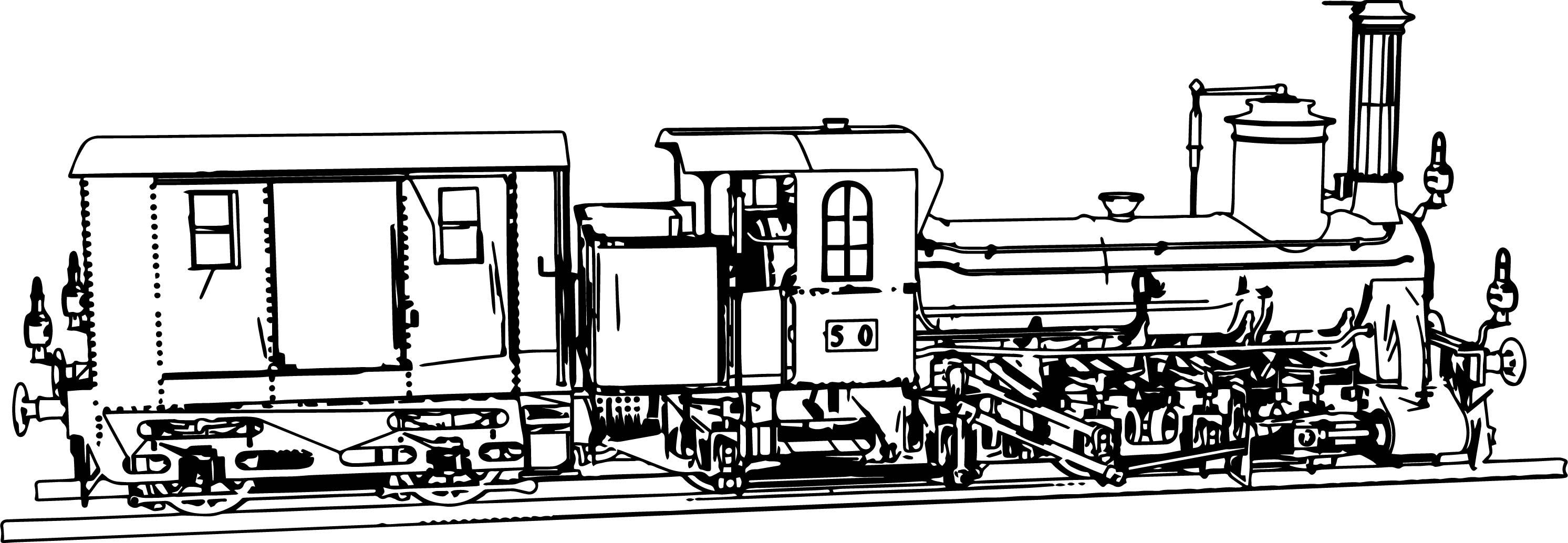 Steyerdorf Steam Locomotive Coloring Page