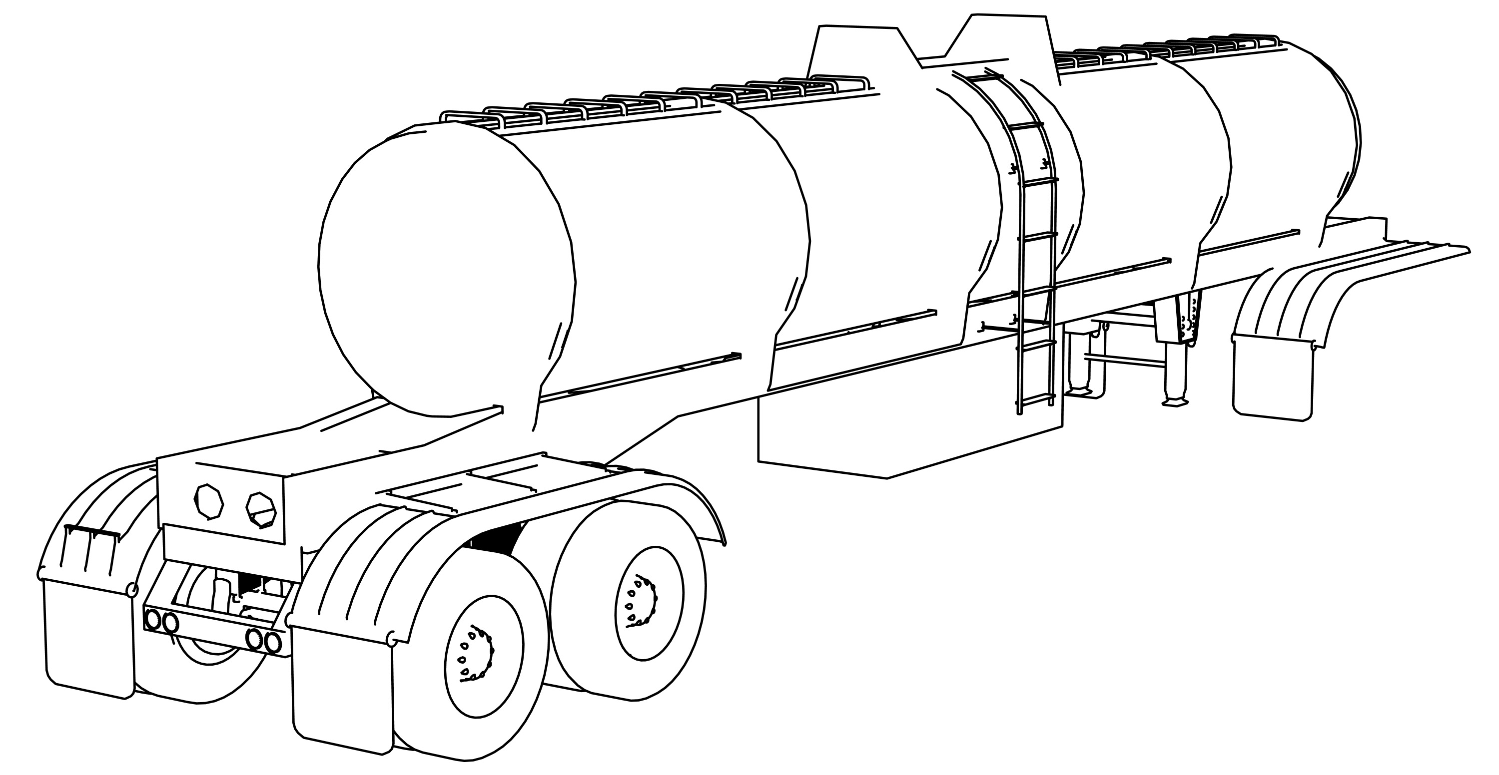 Trailer Chemic Tanker Coloring Page