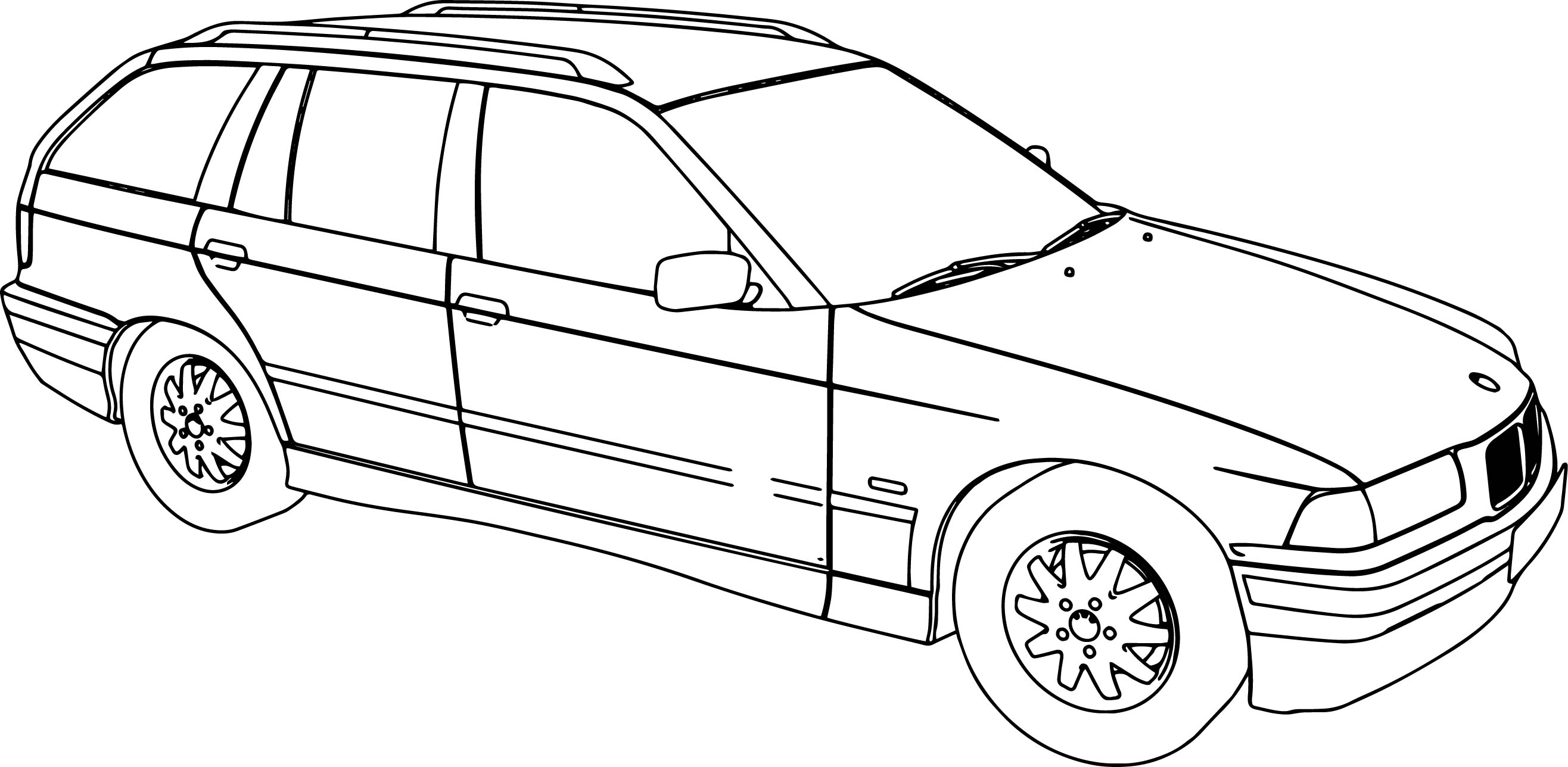 Bmw 318 Model Touring Car Coloring Page Wecoloringpage