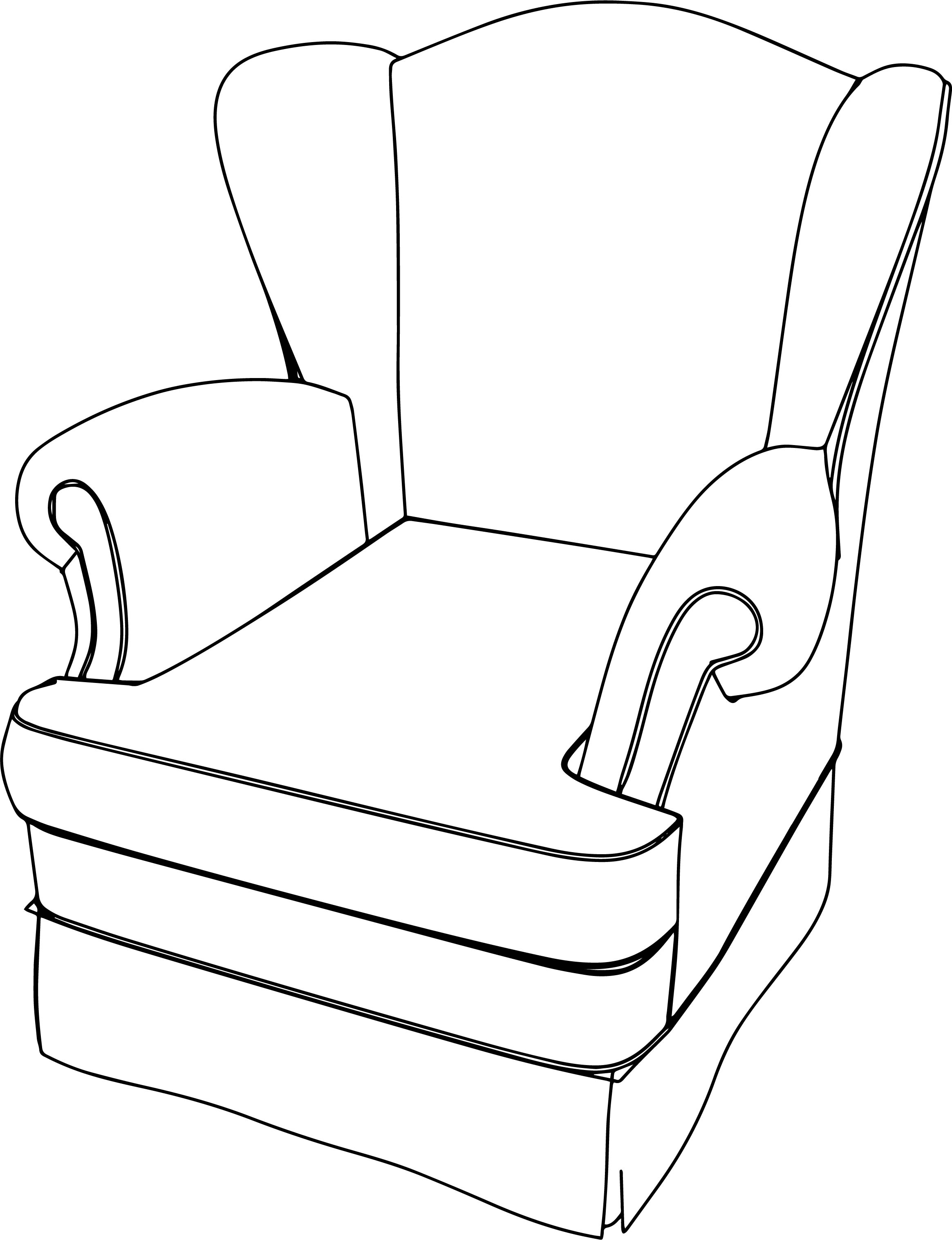 Classic Armchair English Coloring Page Wecoloringpage