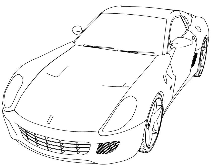 ferrari 488 gtb sport car coloring page  wecoloringpage