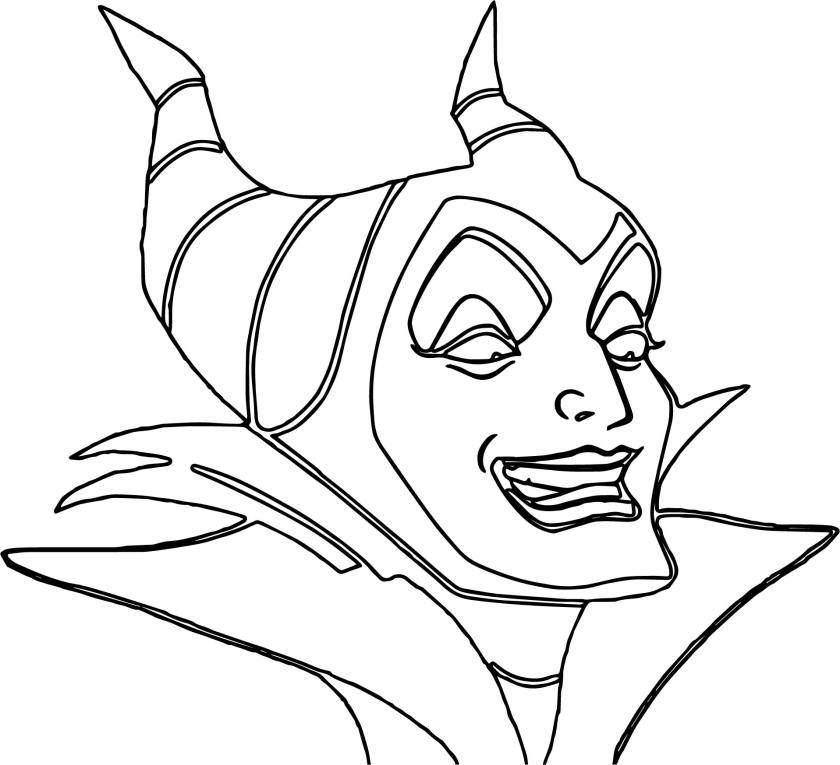 maleficent face coloring pages  wecoloringpage