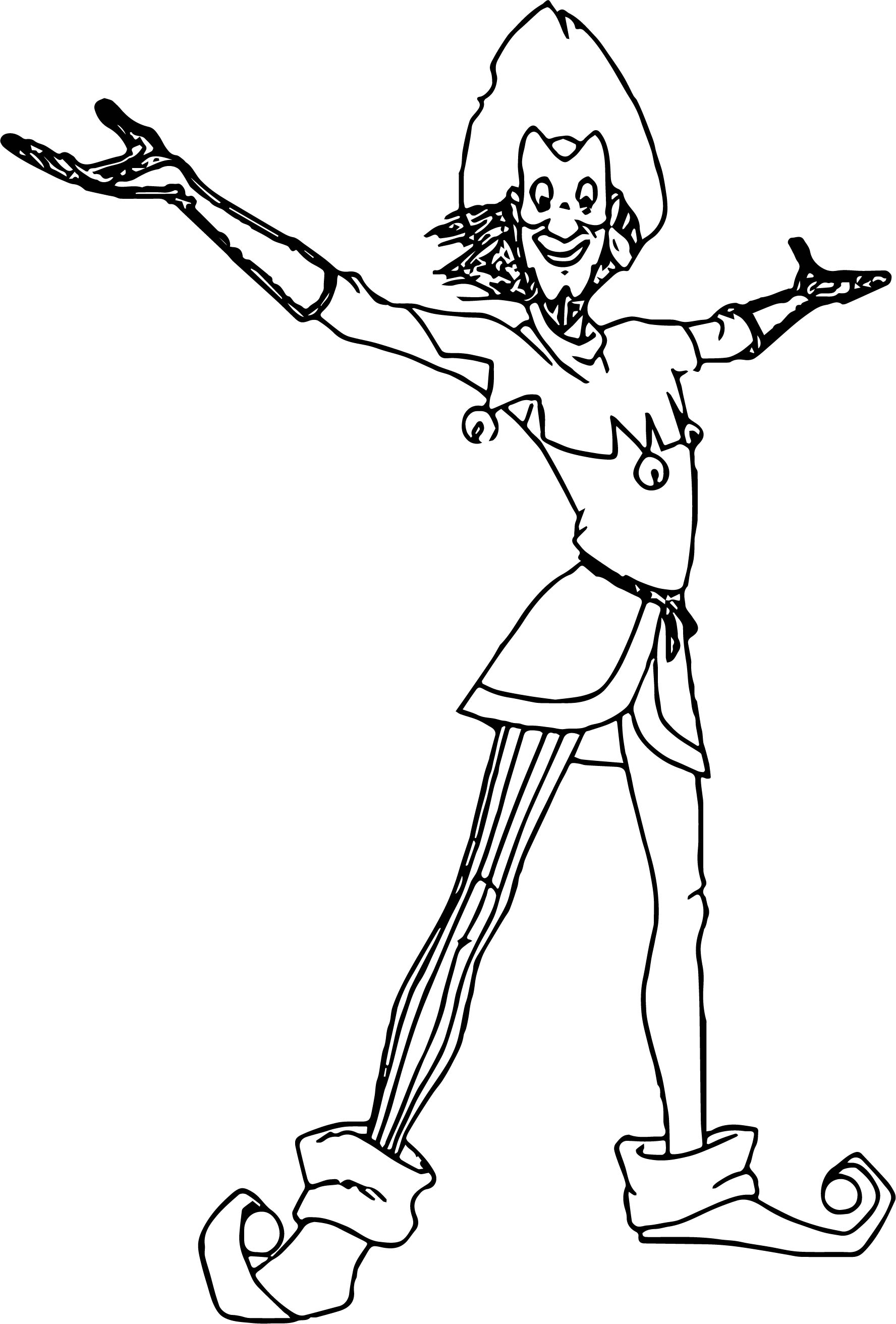 The Hunchback Of Notre Dame Clopin Coloring Page Wecoloringpage