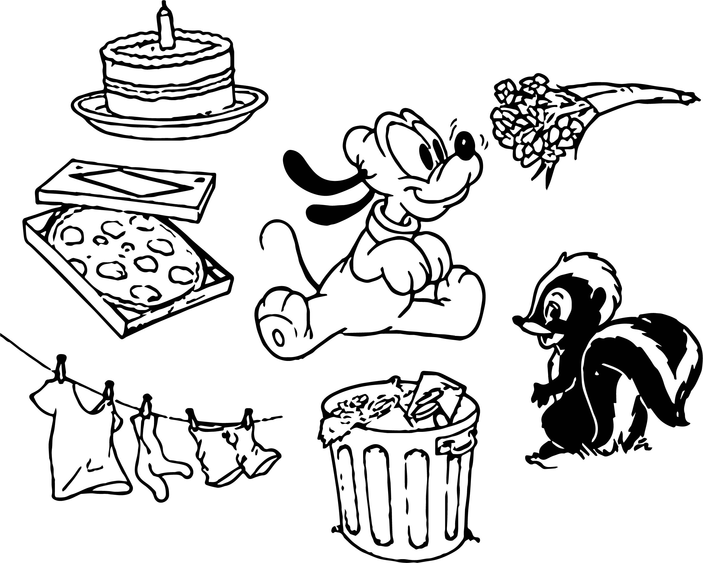 Baby Pluto Set Coloring Page