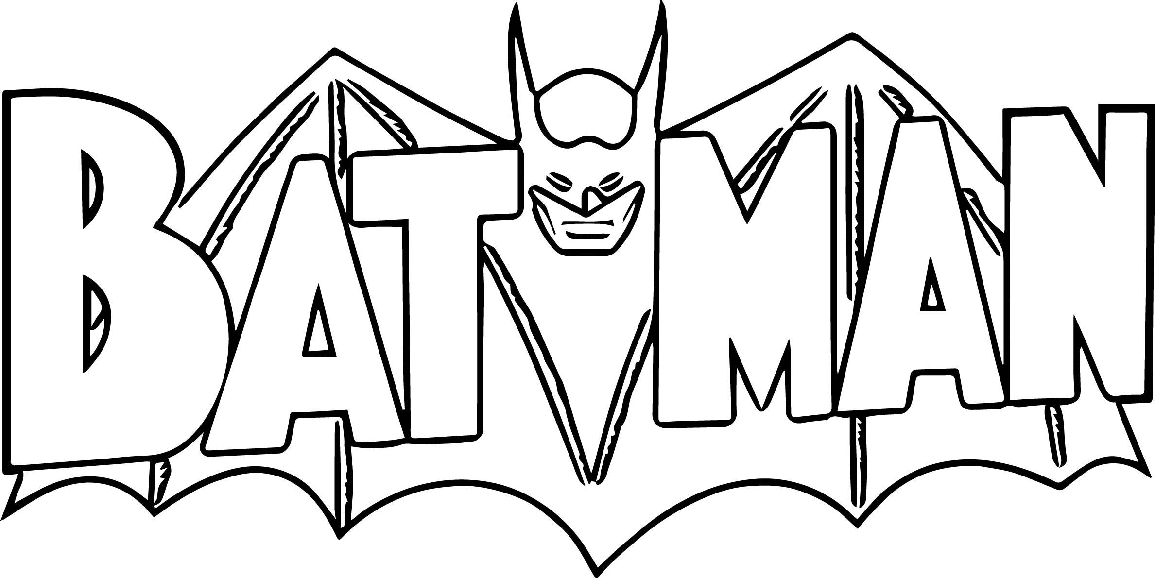 Batman Logo Coloring Page Sketch Coloring Page