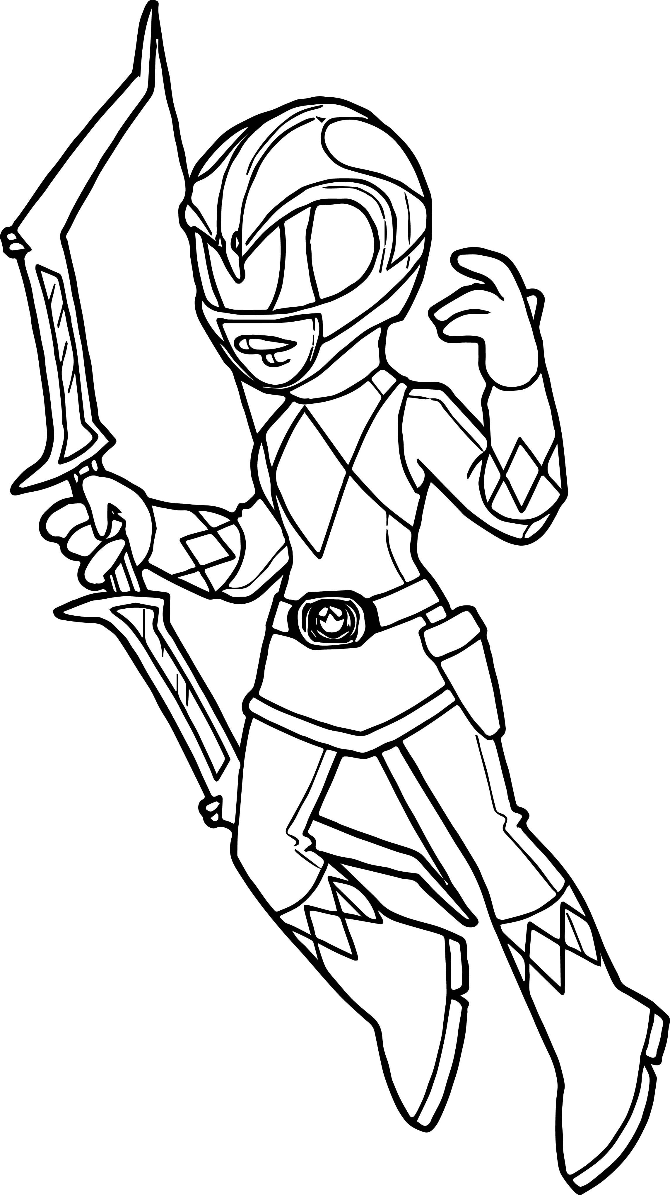 Pink Power Ranger Pages Coloring Pages