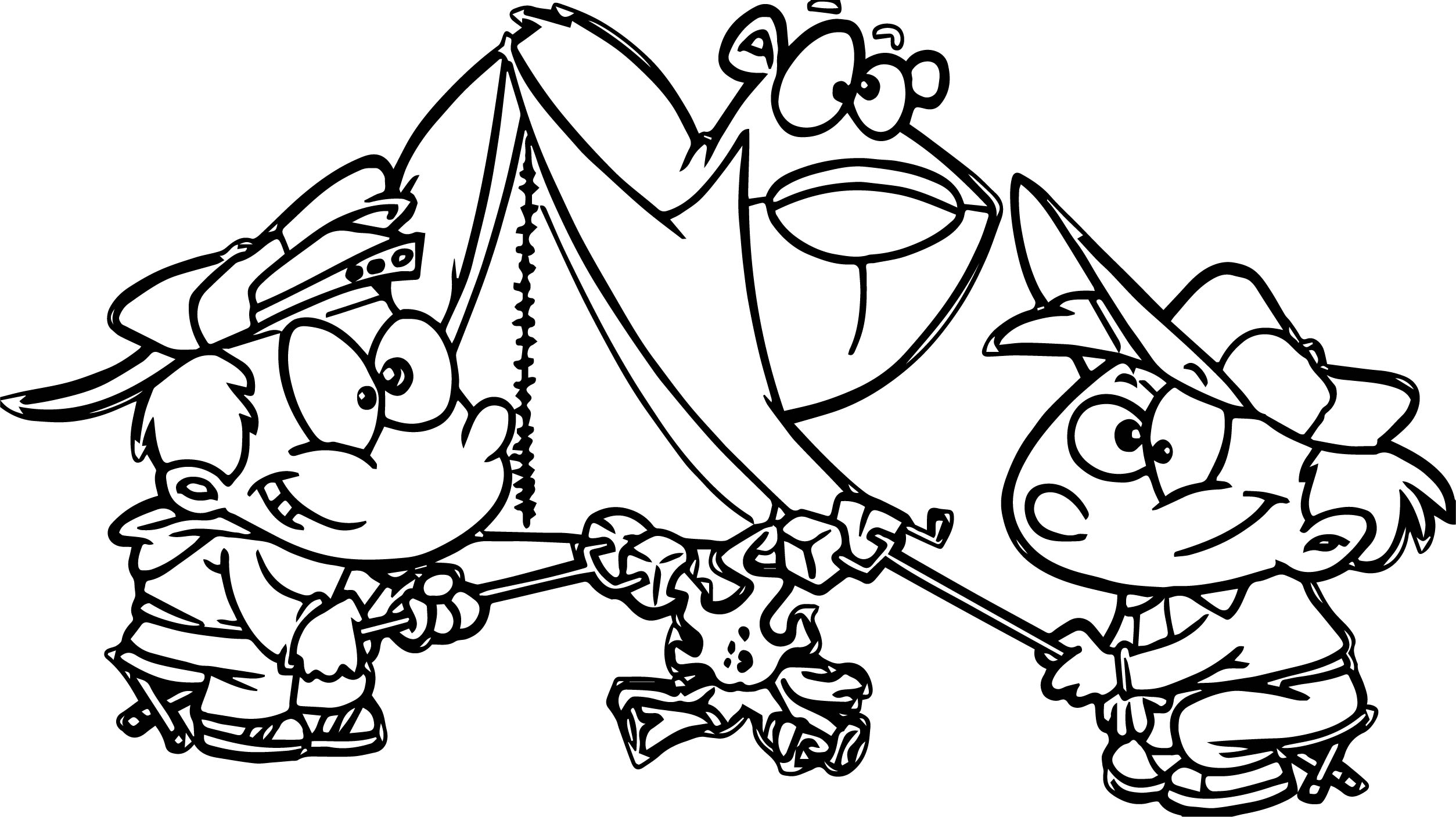 Cartoon Camping Pictures Free Download Clip Art Sketch