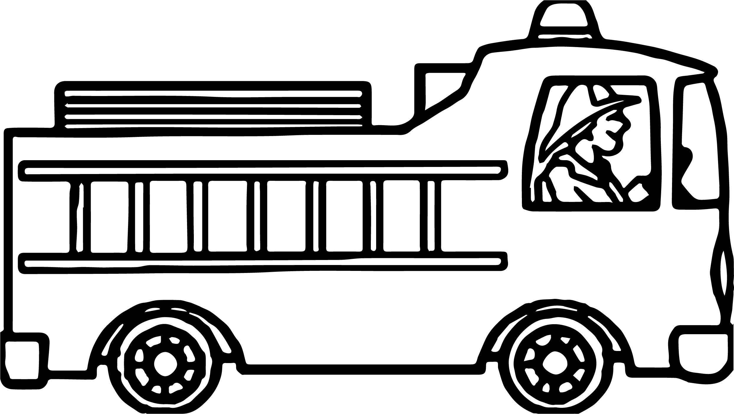 Fire Truck Coloring Pages Getcoloringpagescom Sketch