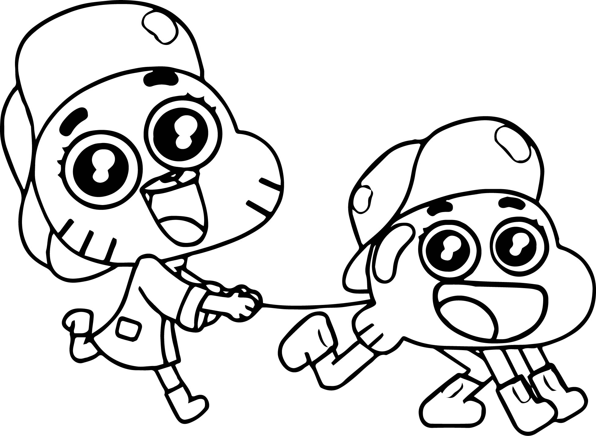 Gumball And Darwin Coloring Pages