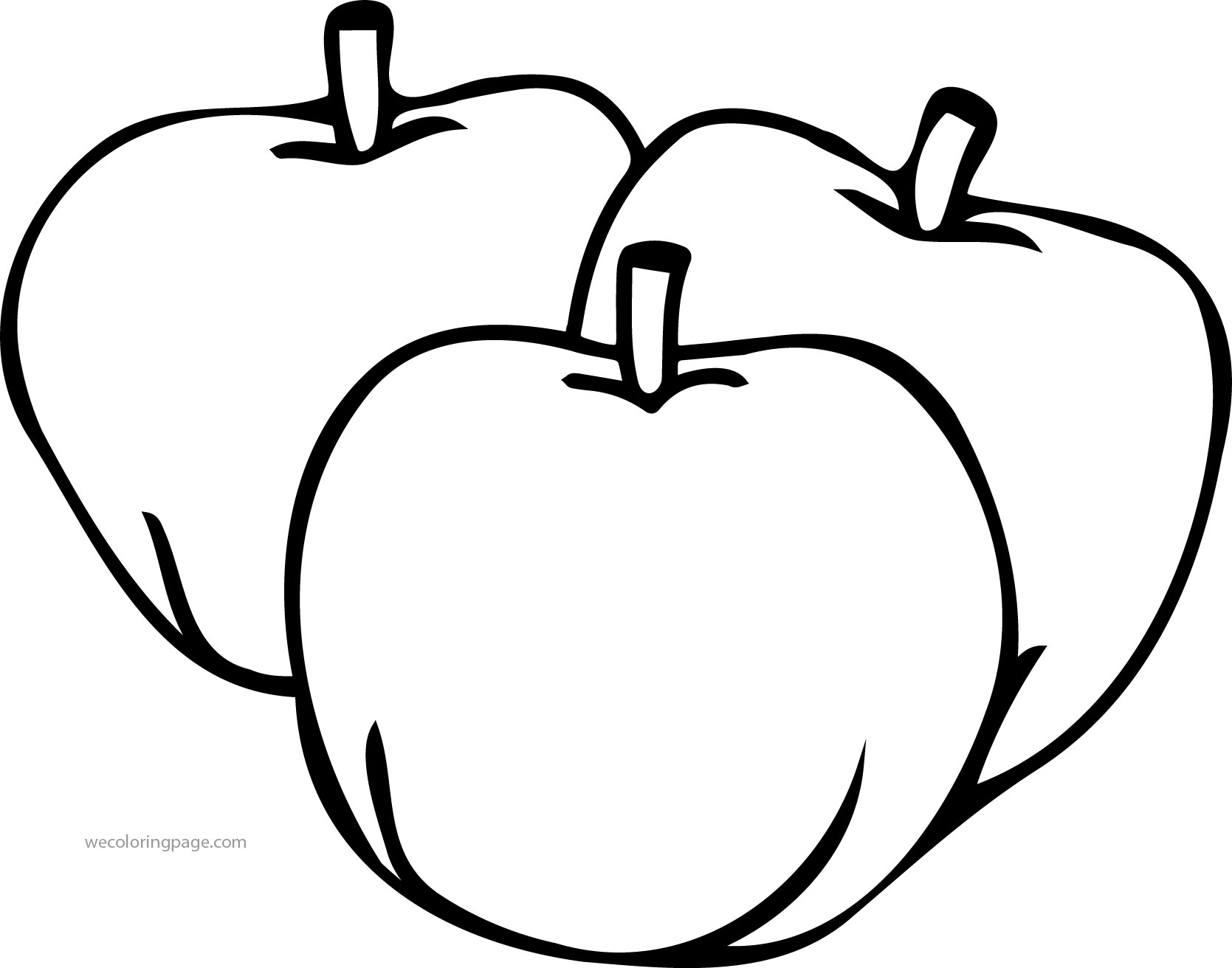 Just Three Apple Coloring Pages
