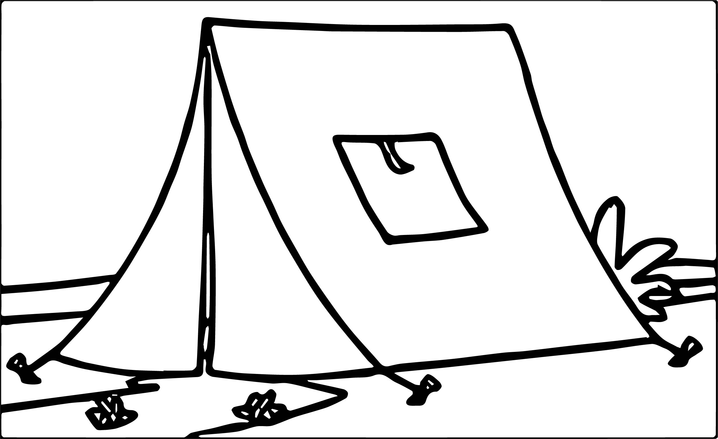 Tn Completely Constructed Yellow Tent At Camp Camping