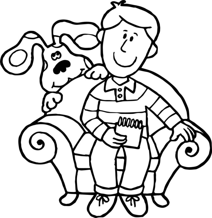 blue's clues man coloring page  wecoloringpage