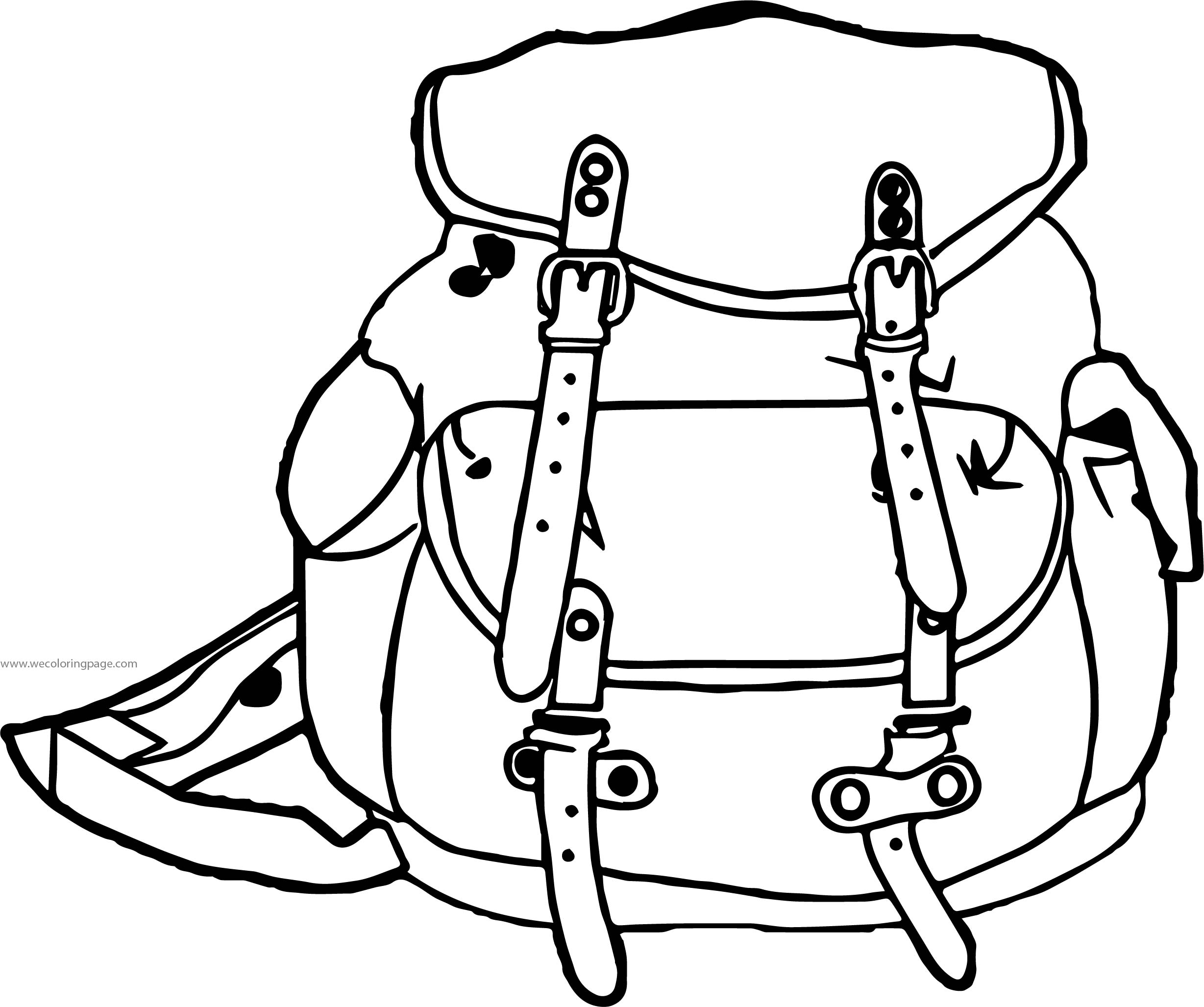 Are School Bag Coloring Page
