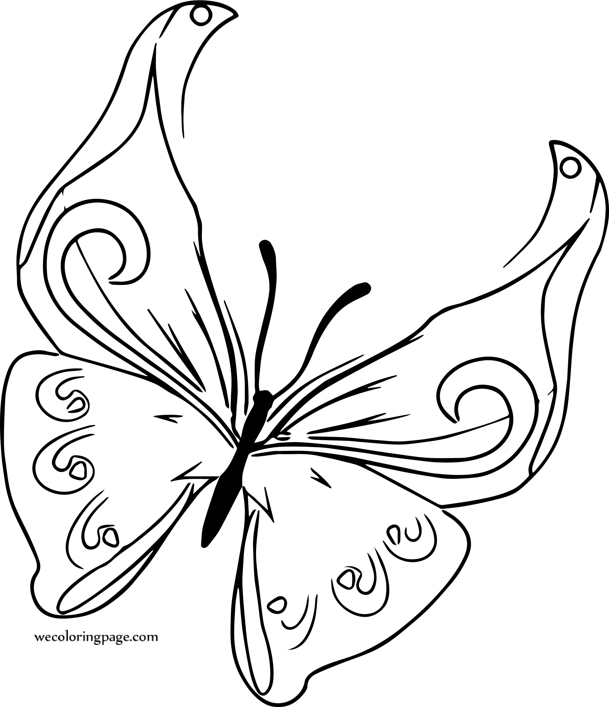 Fine Butterfly Coloring Page