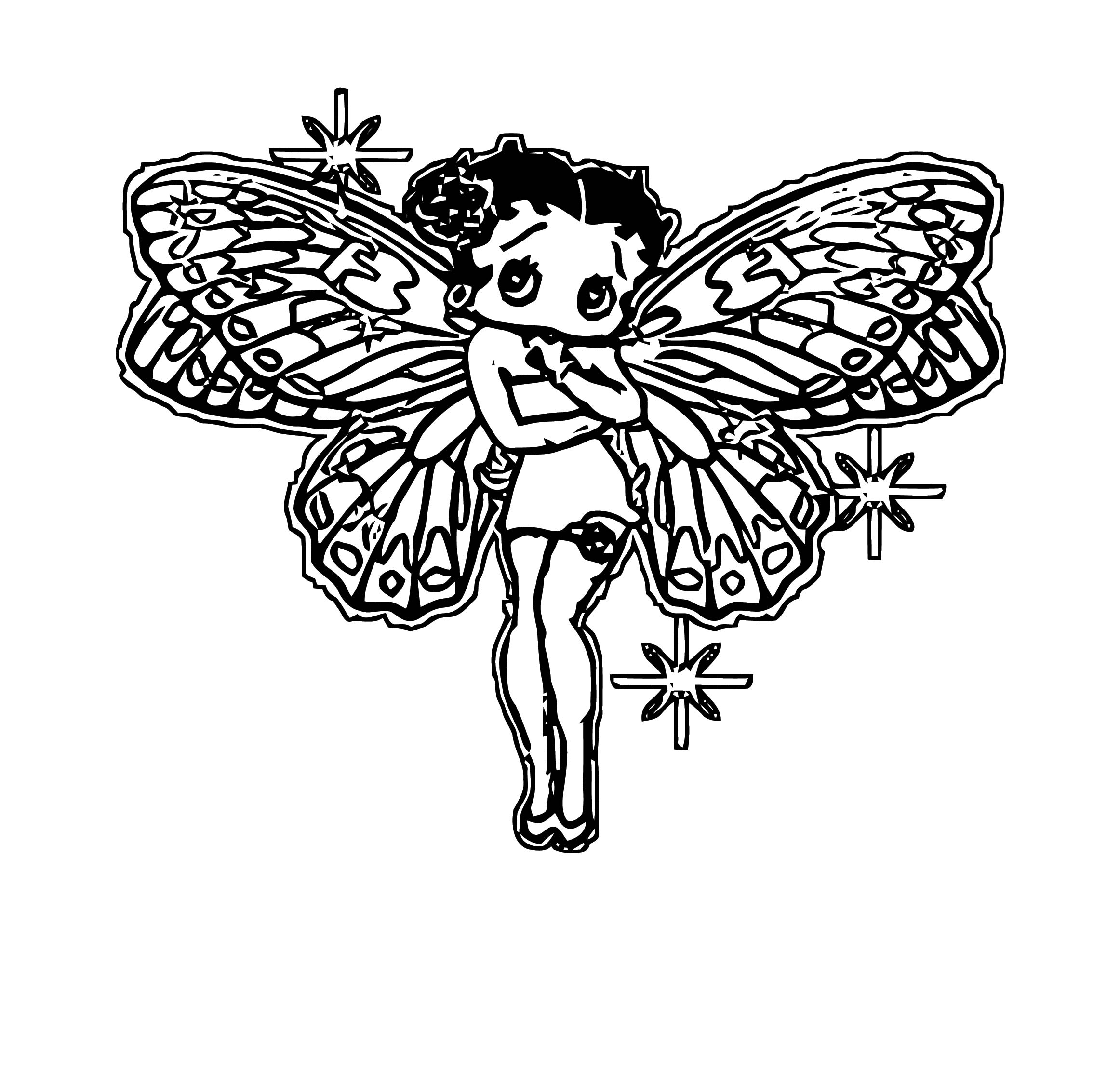 Betty Boop We Coloring Page 290