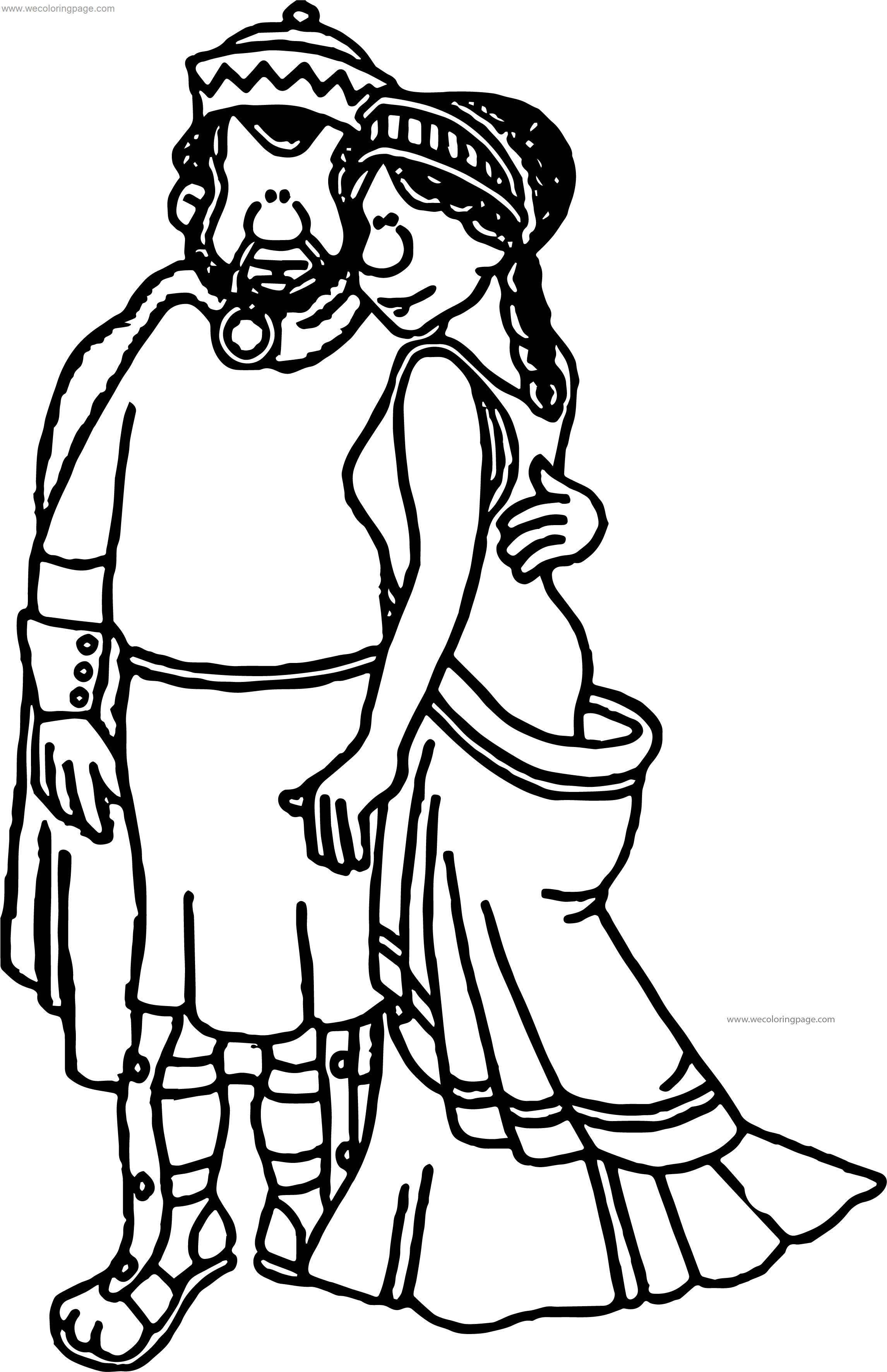 Greece Greek Couple Coloring Page