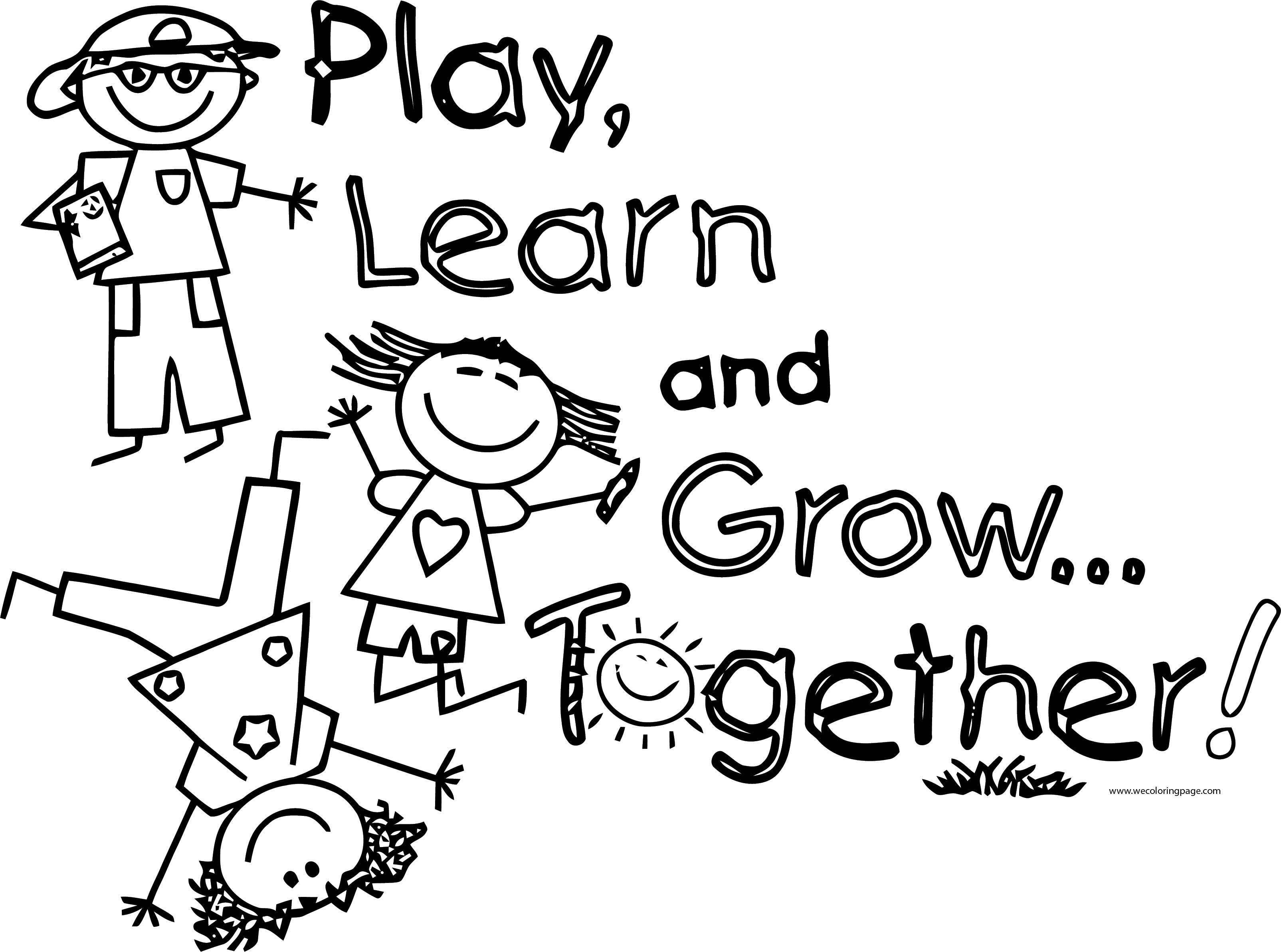 English Teacher Play Learn Coloring Page
