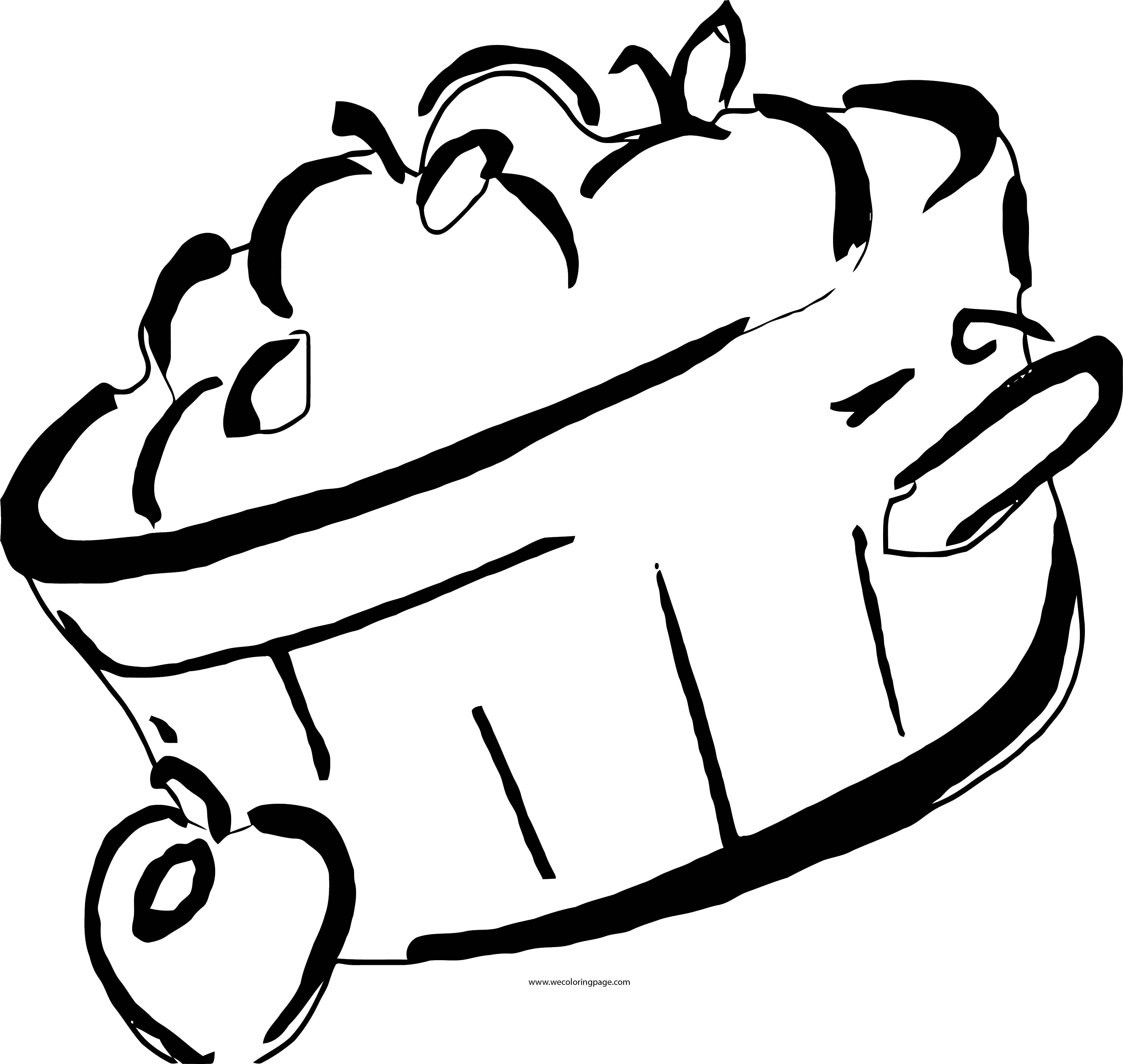 Fall Apple Basket Clipart Coloring Page
