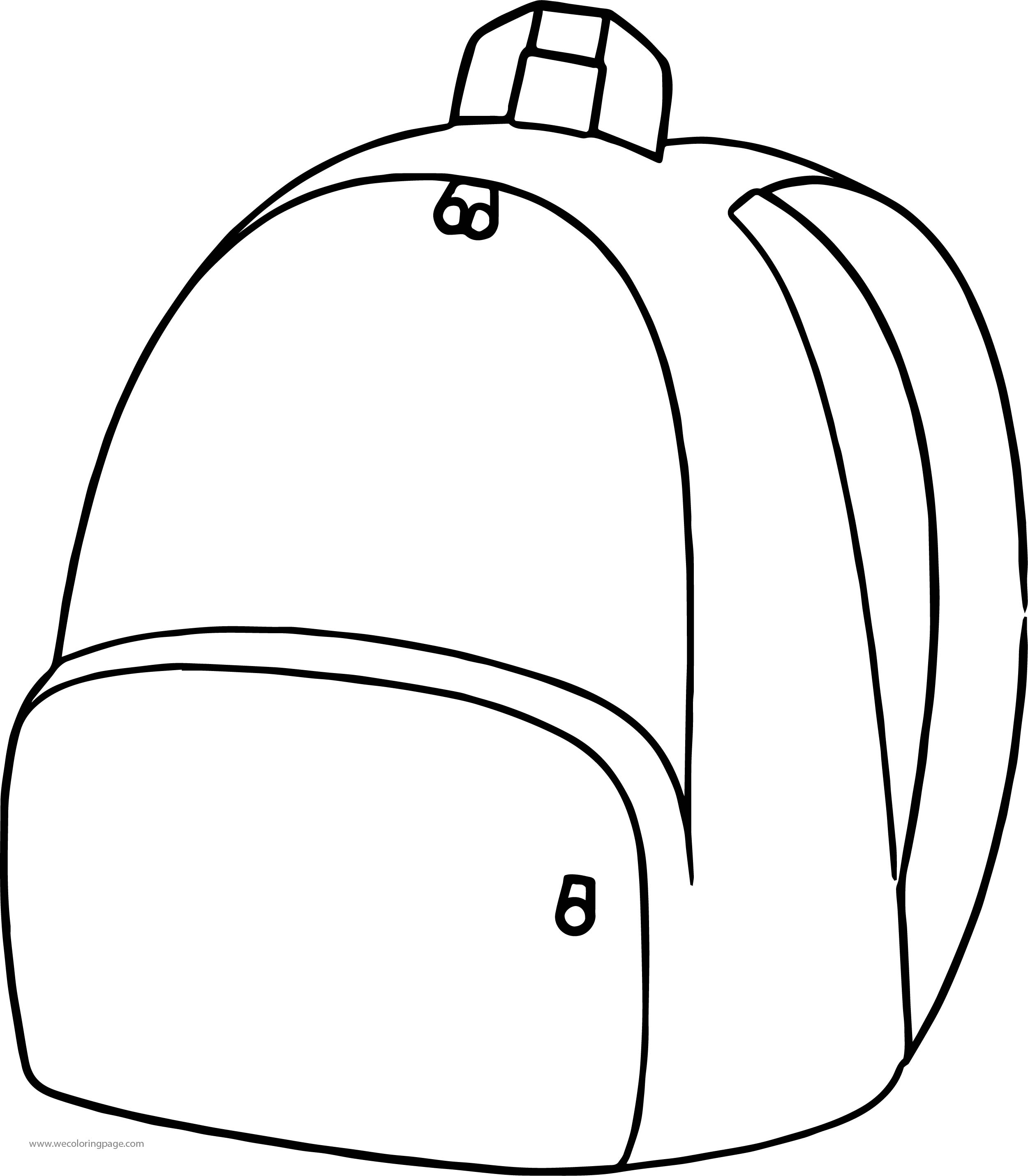Is School Bag Coloring Page