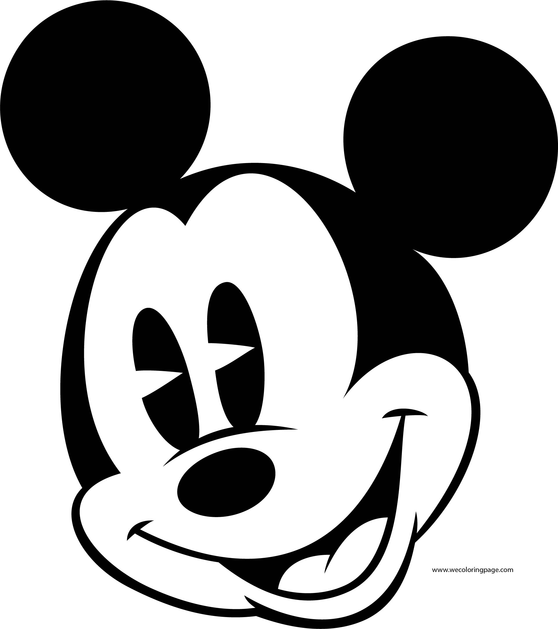 Old Mickey Mouse Face Coloring Page 3