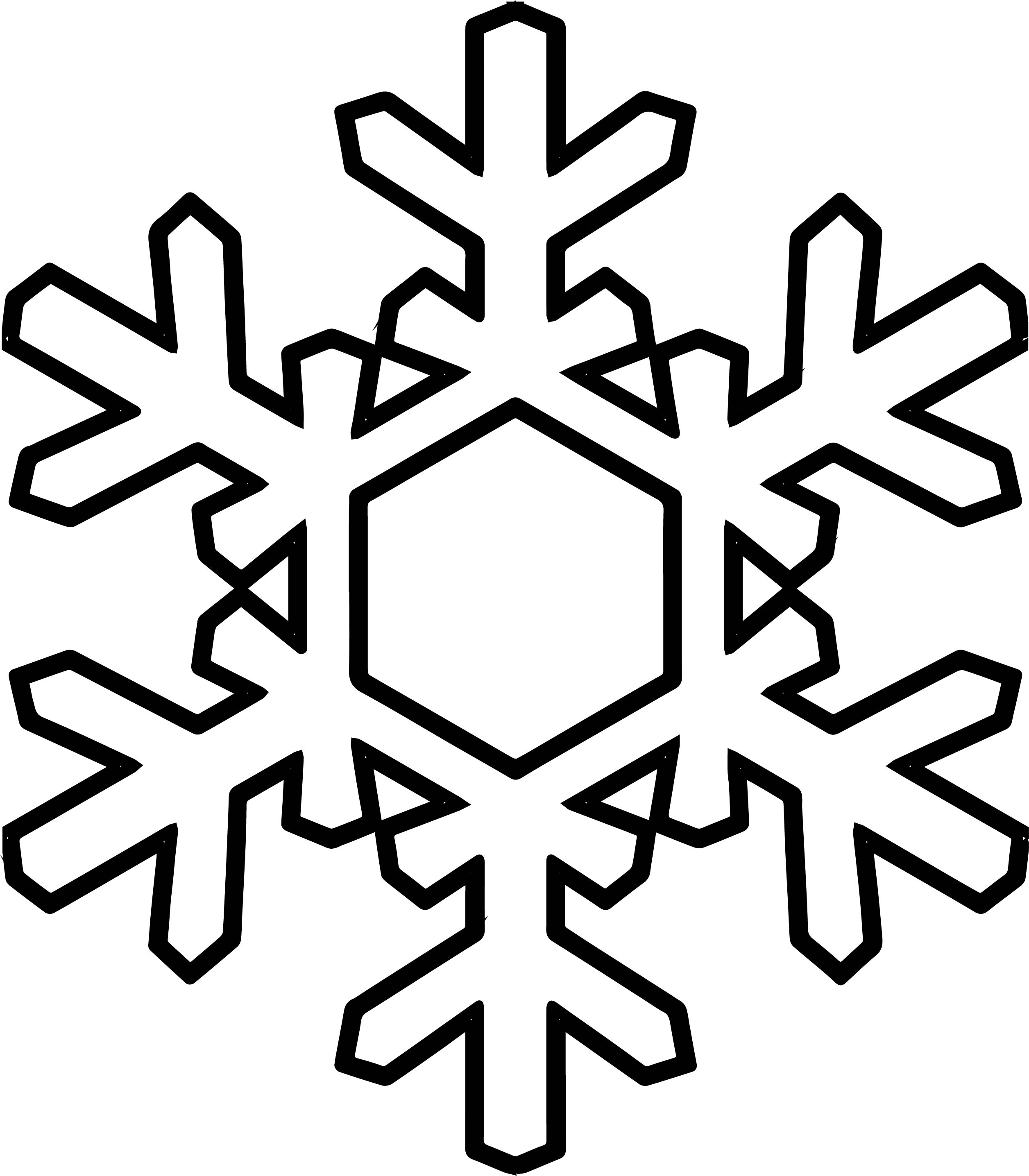 Snowflake Coloring Page Wecoloringpage 15