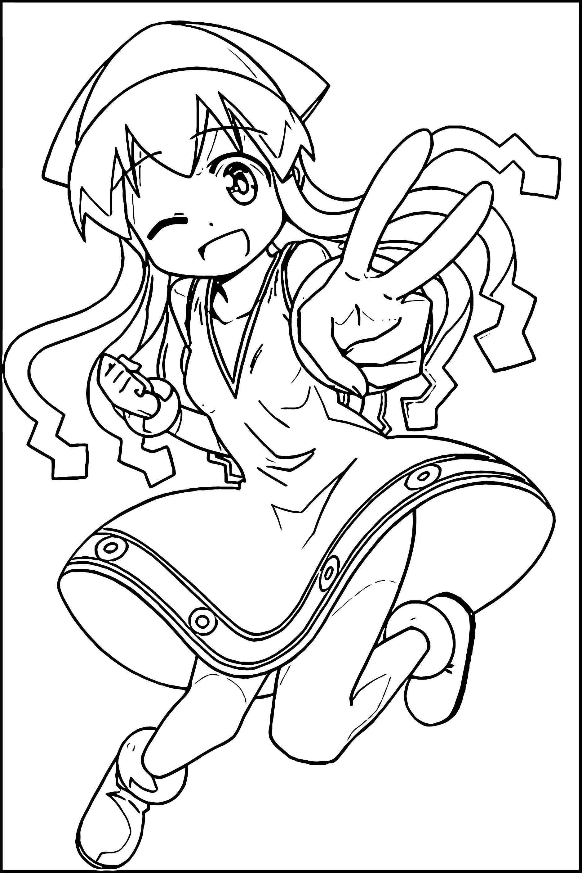 Squid Girl Coloring Page 227