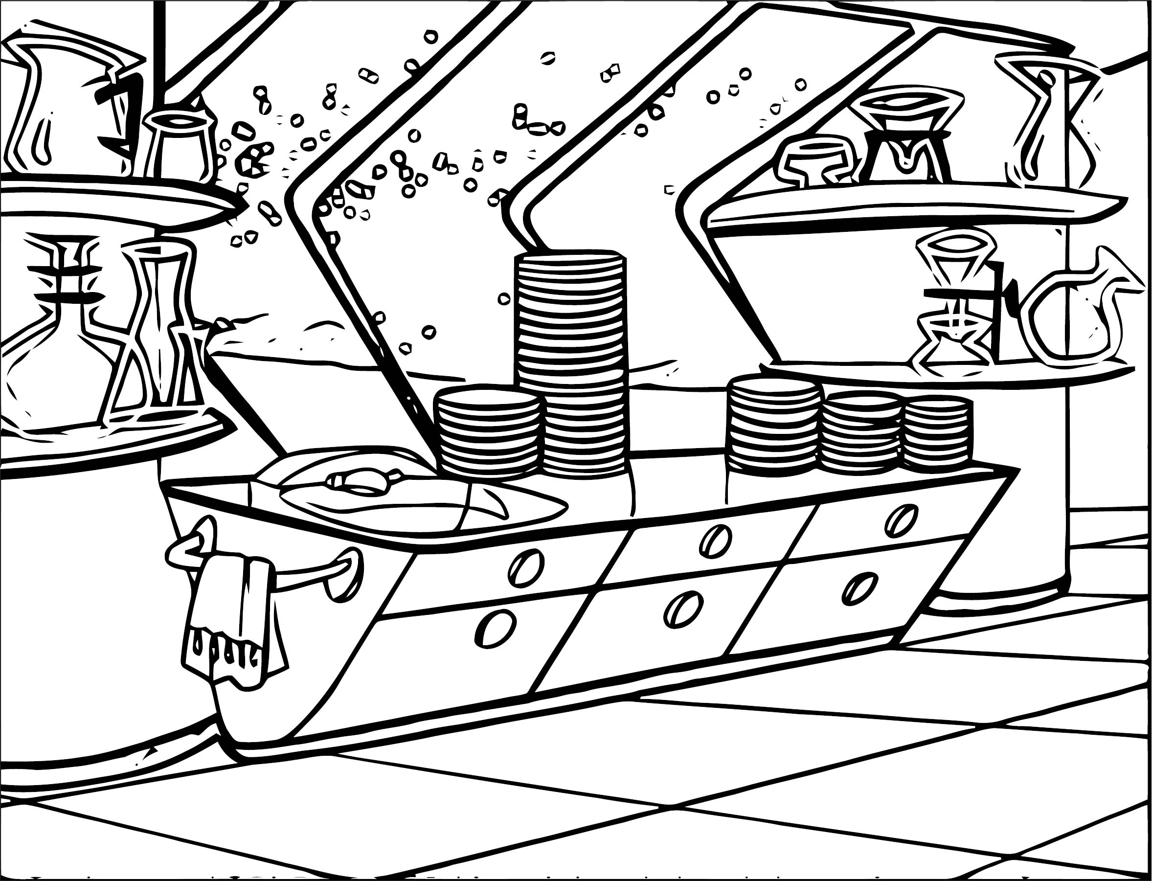 Outer Space Case 4 Coloring Page