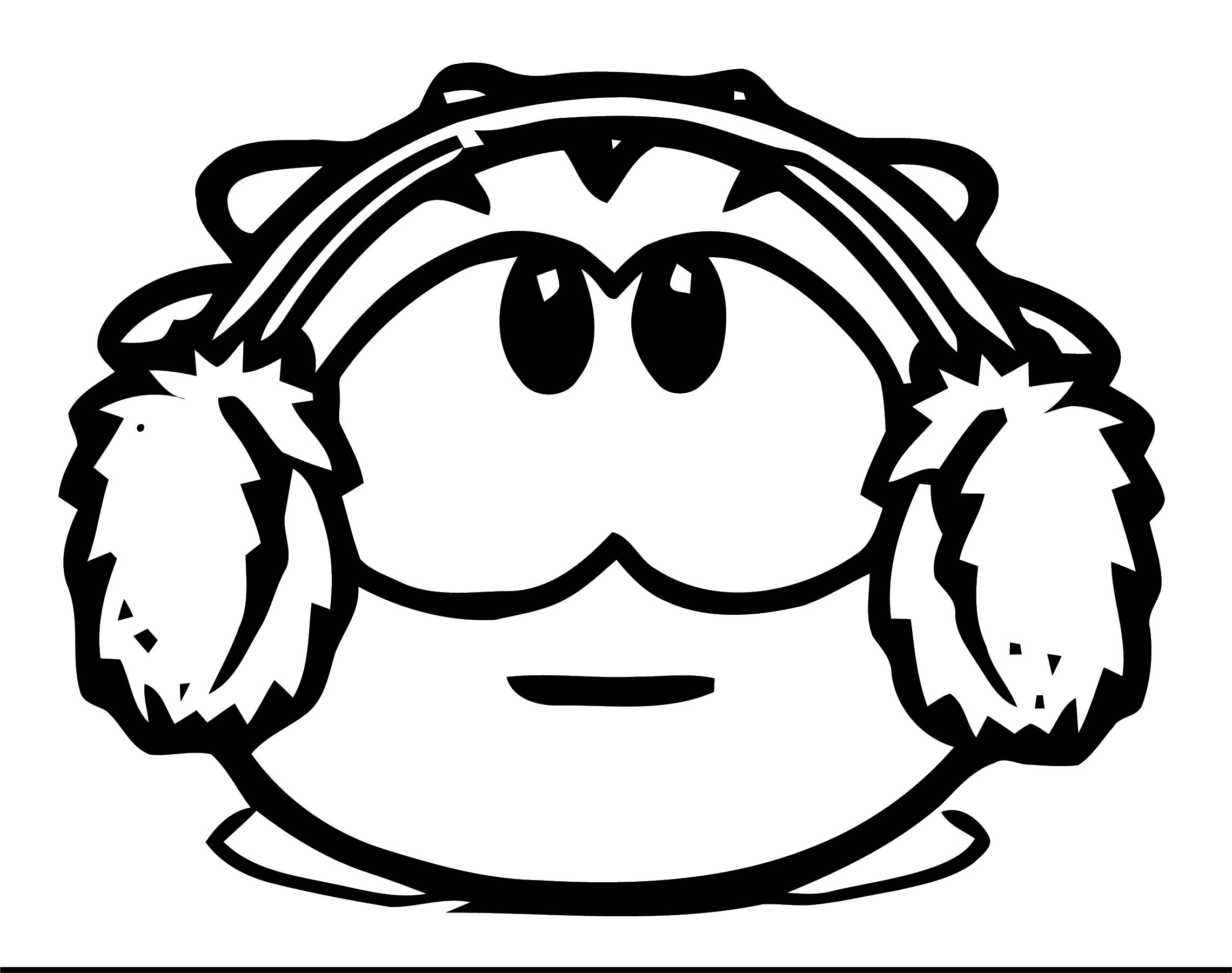 Be A Puffle On Club Penguin Coloring Page