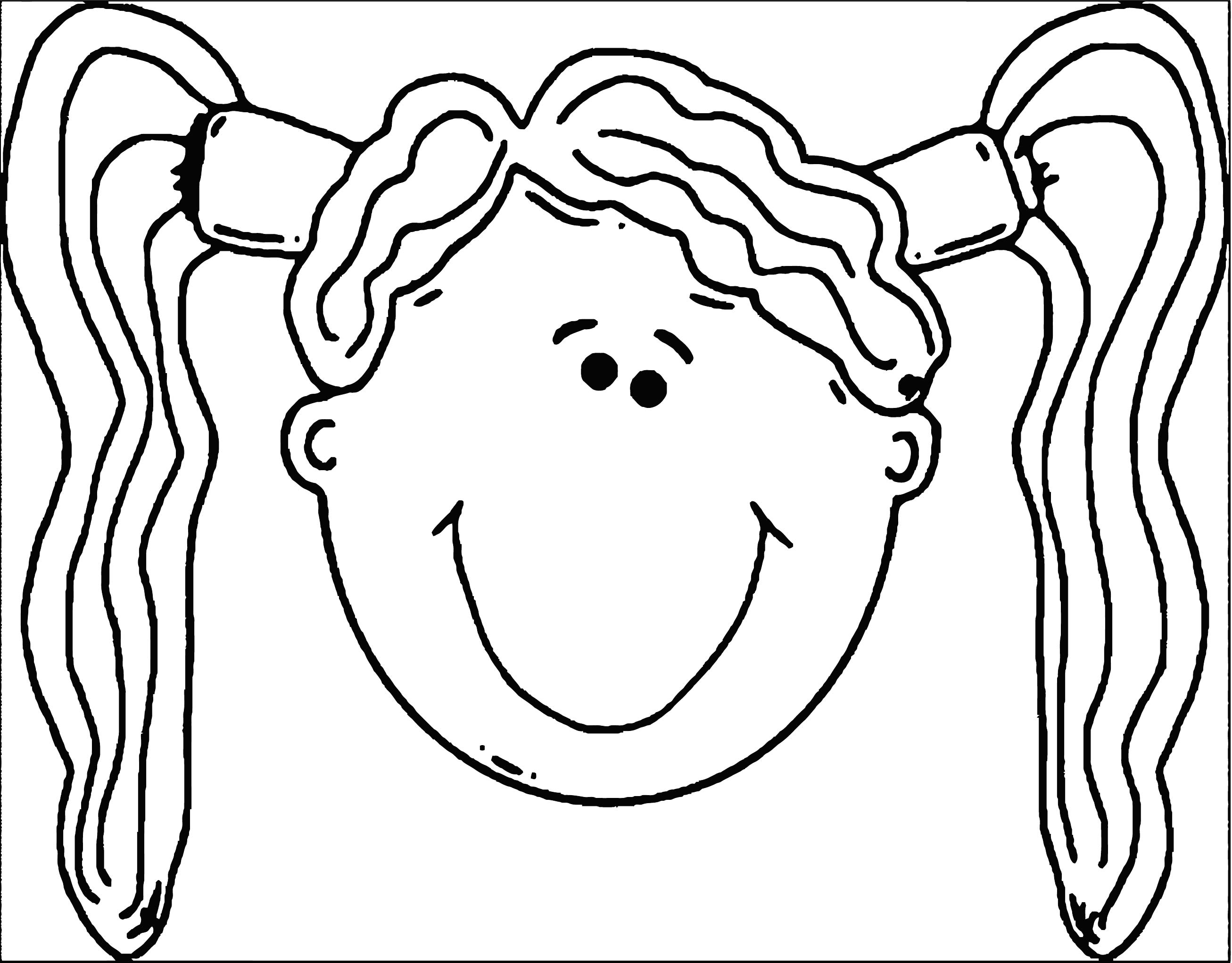 Face Happy Kids Face Free Images 01 Coloring Page