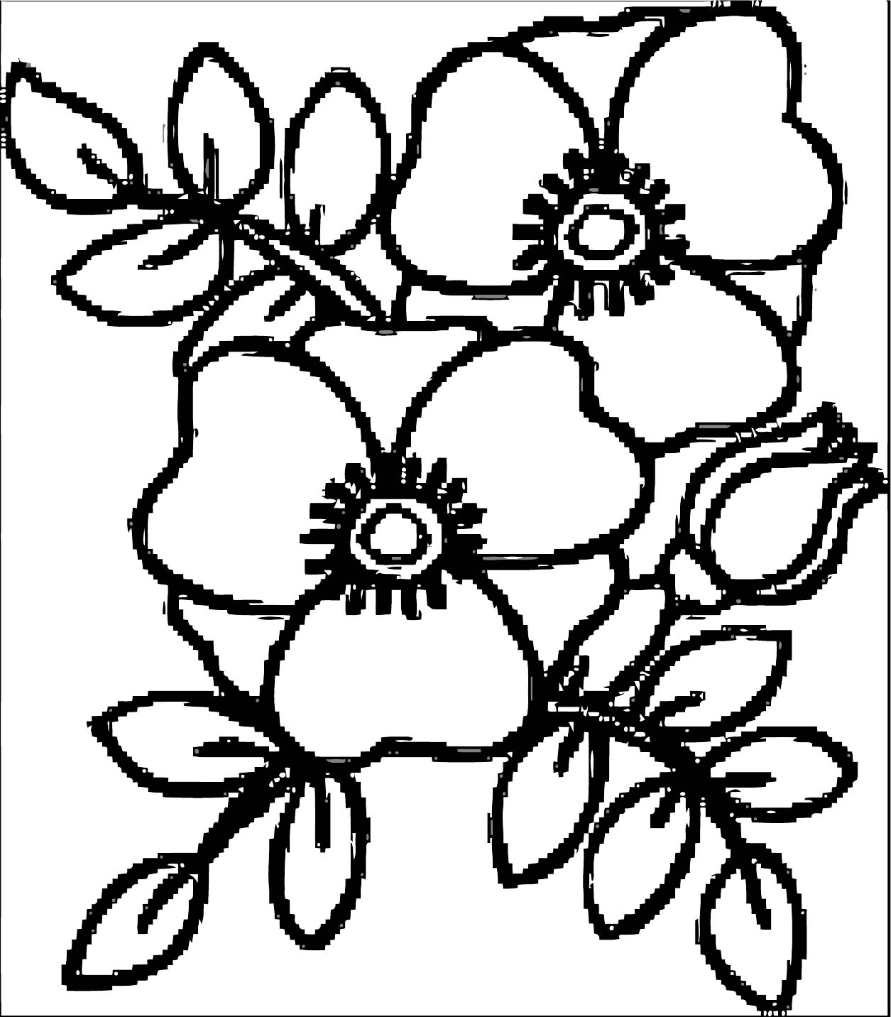 Rose Flower Coloring Page 059