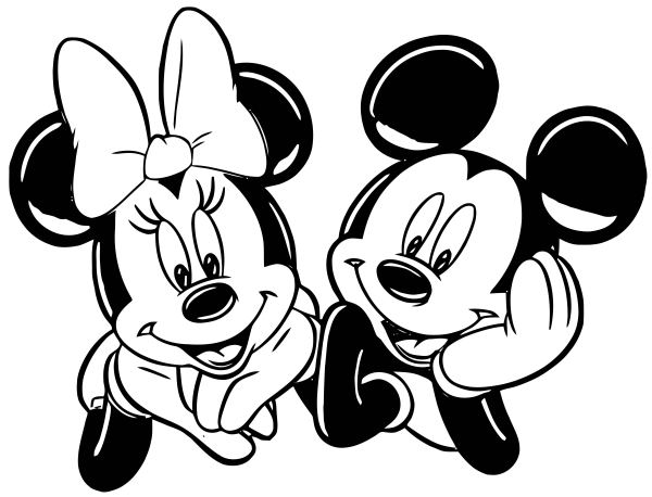 minnie and mickey mouse coloring pages # 42