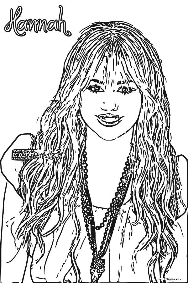 hannah montana coloring pages # 37
