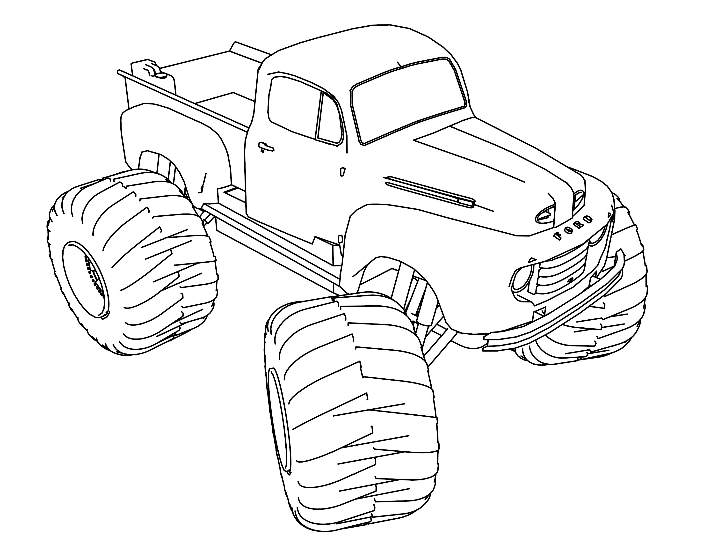 Old Ford Monster Truck 4 4 Coloring Pages