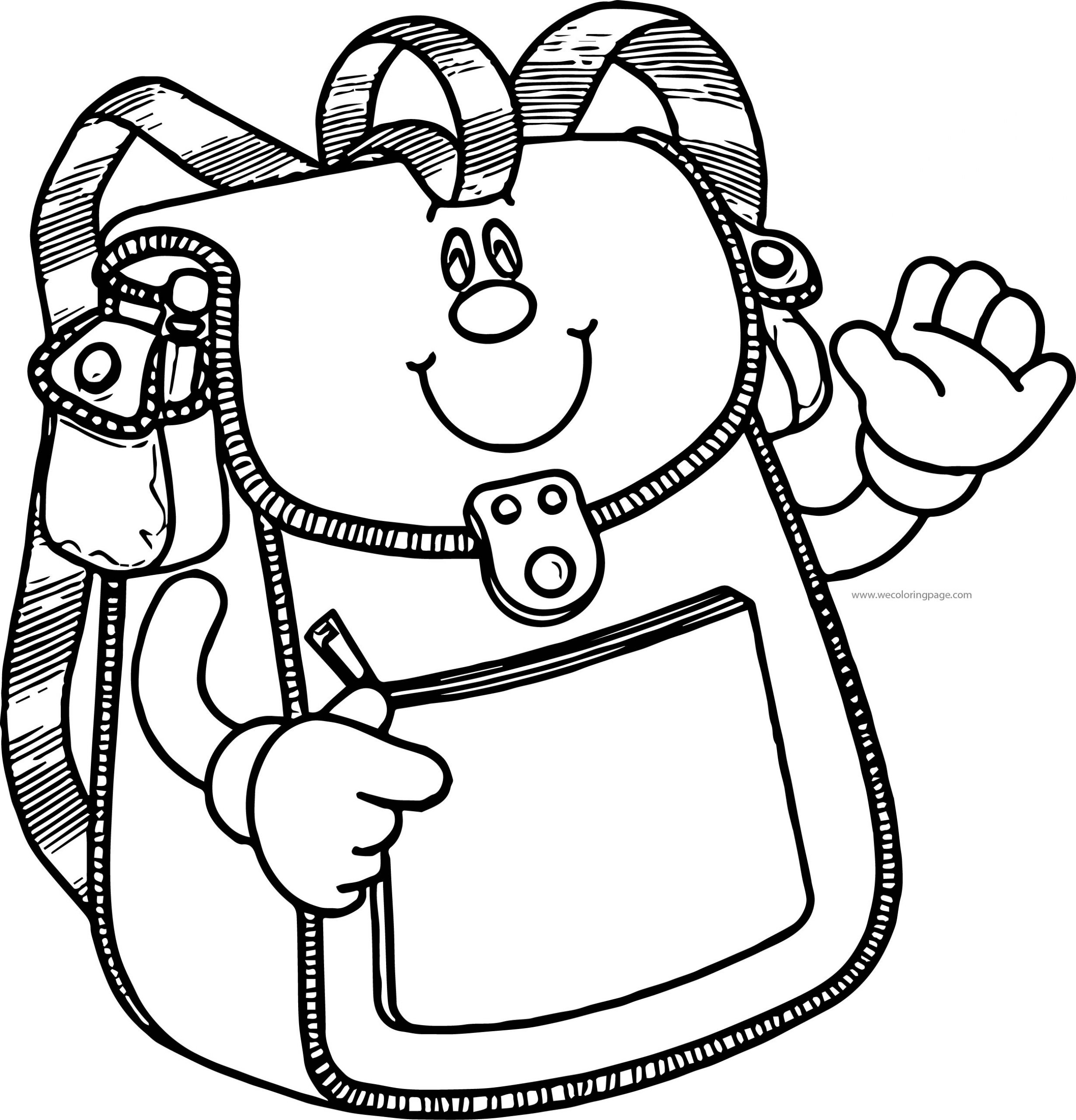 School Bag Coloring Page 74 Wecoloringpage