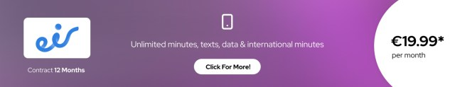 eir best sim-only deal Ireland & International
