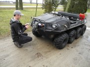 Chris arming the Argo with a GoPro