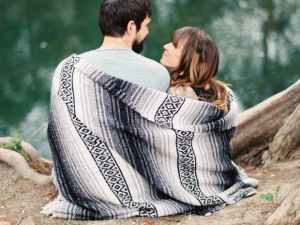 couple in blankets