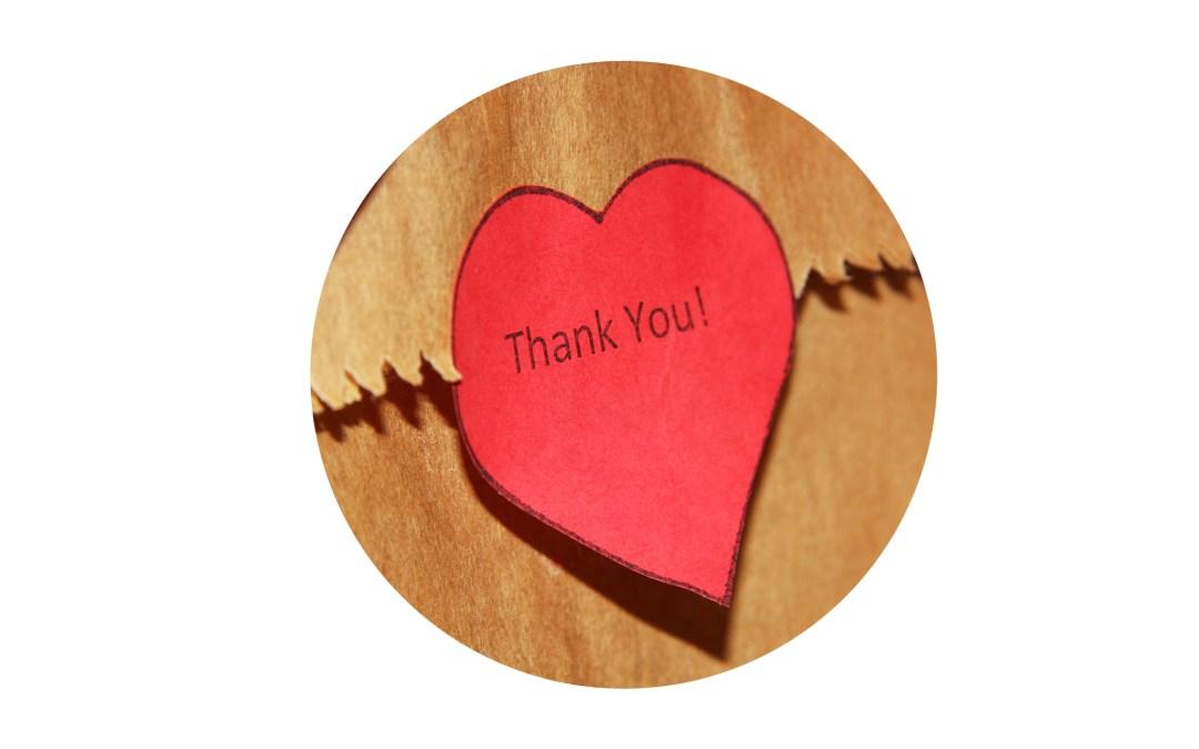 Es ist Zeit Danke zu sagen – Ideen für Danksagungen