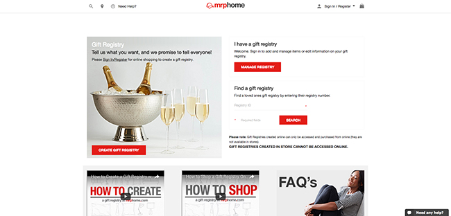 9 Websites For Compiling Your Dream Wedding Registry
