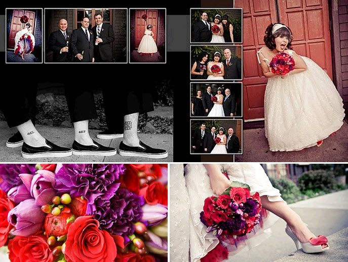 Bride Chic Donna And Matts Valentine Themed Retro