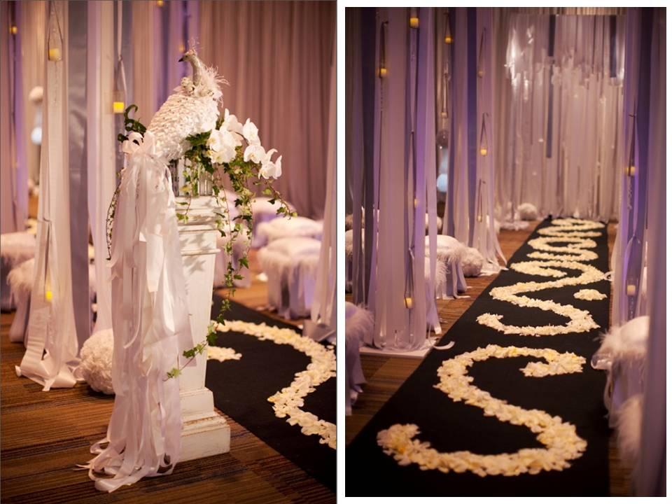 Vila's Blog: Submerged Flower Ceremony Aisle Decor