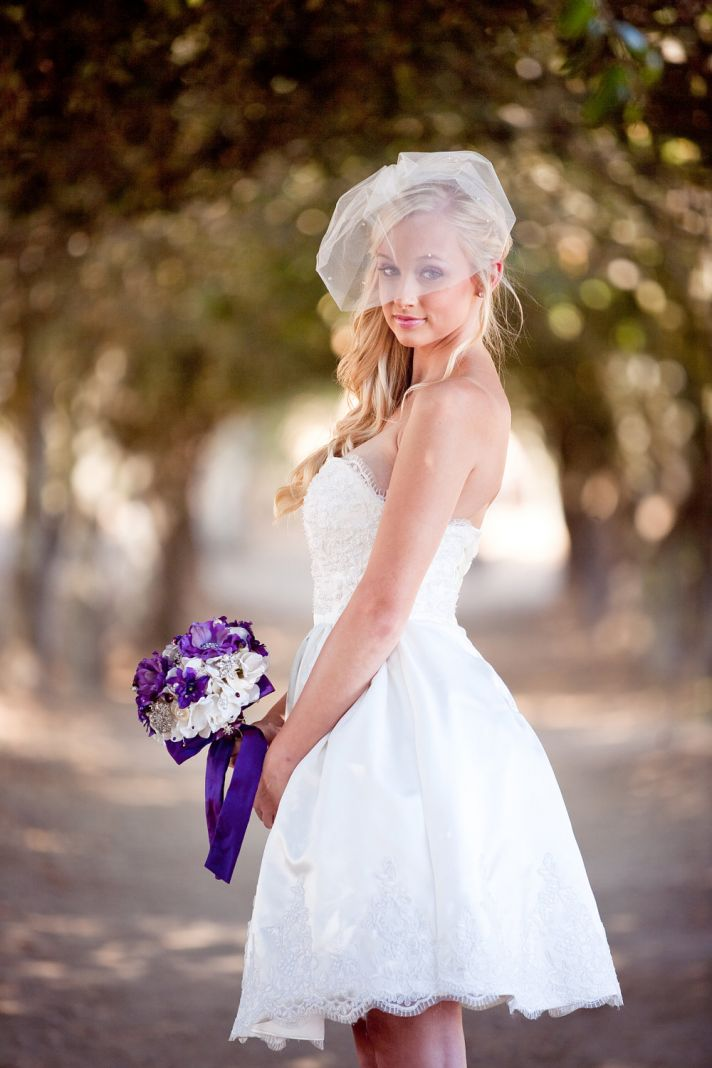 lovely lace LWDs for the brides wedding reception look knee length