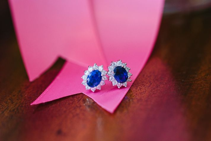 Sapphire and Diamond Earrings for Something Blue